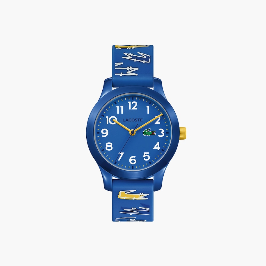 Kids Lacoste 12.12 Watch with Blue Printed Silicone Strap