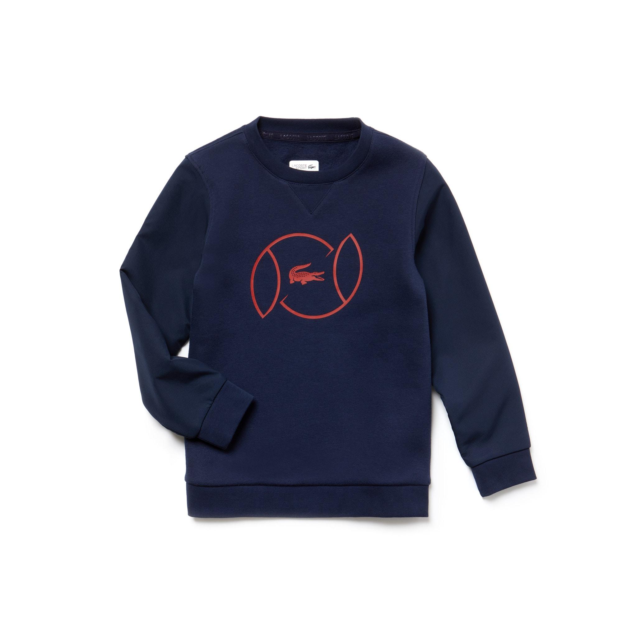 Boys' Lacoste SPORT Fleece And Lettering Tennis Sweatshirt