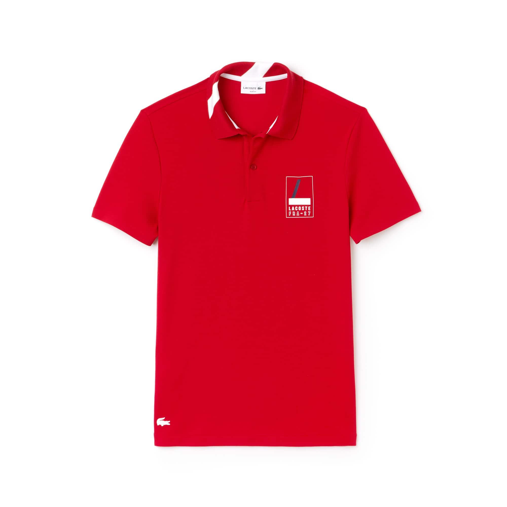Men's Lacoste Slim Fit Lettering Stretch Mini Piqué Polo Shirt