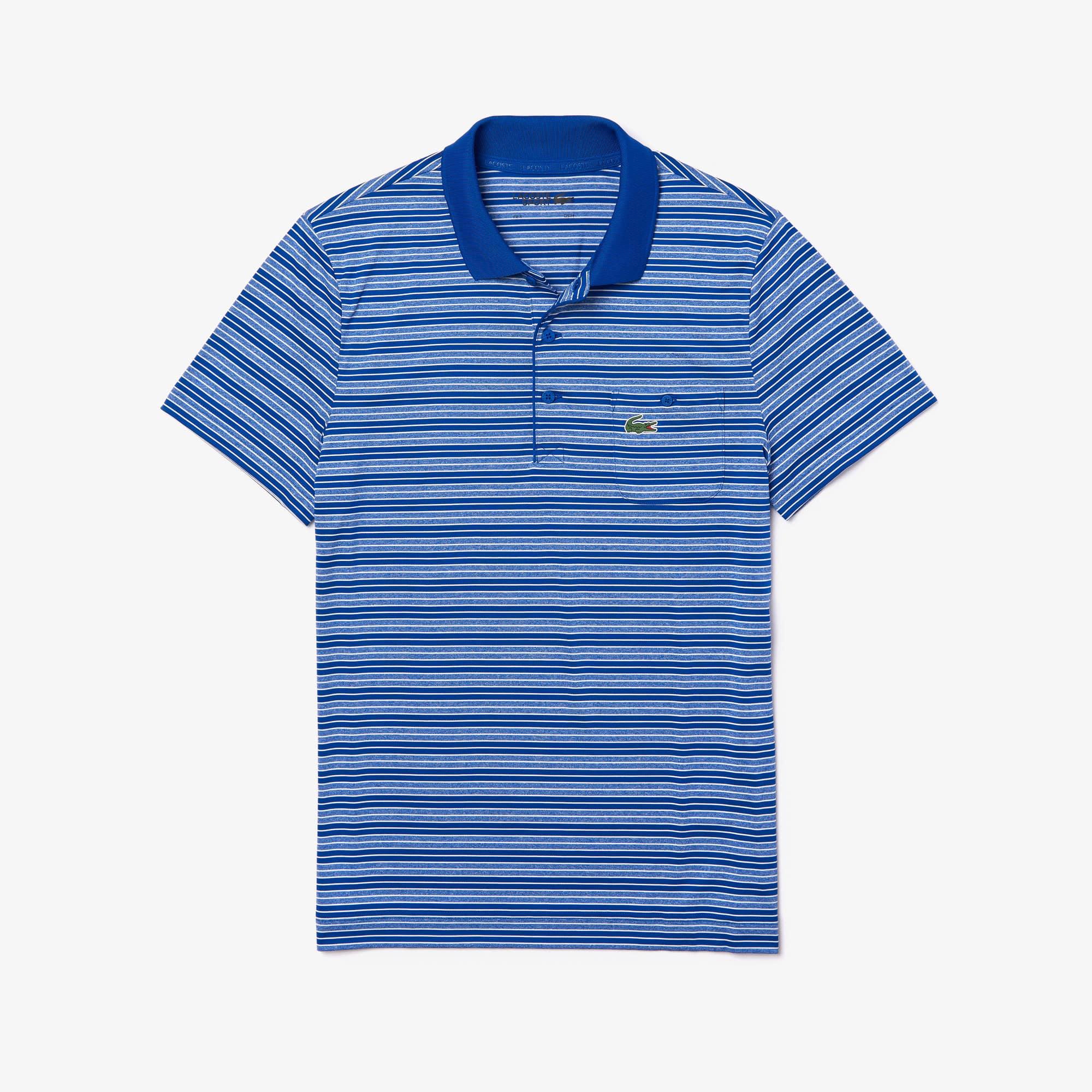 striped lacoste polo shirt