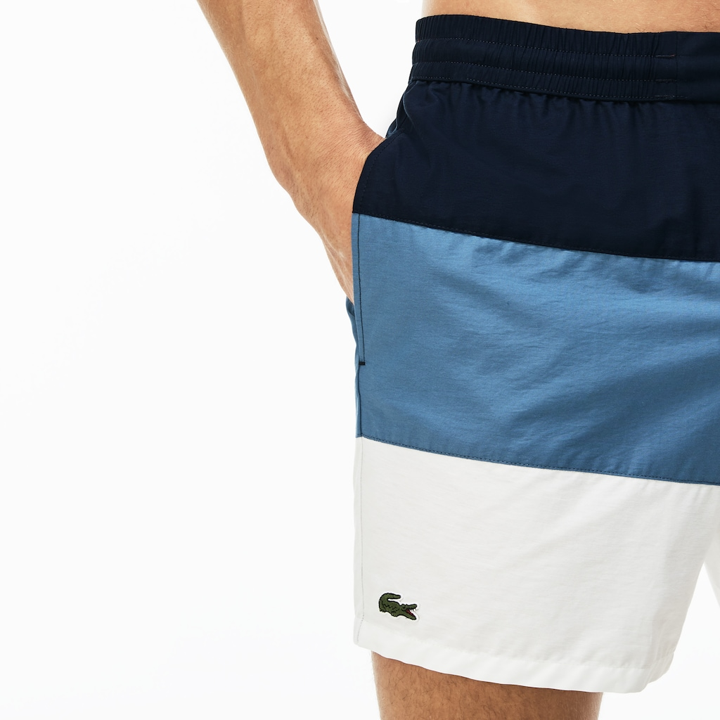 Men's Colourblock Taffeta Swimming Trunks