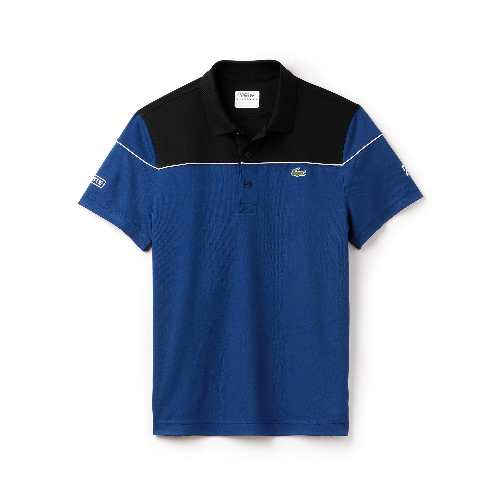 Men's LACOSTE SPORT NOVAK DJOKOVIC COLLECTION Colorblock Tech Piqué Polo Shirt