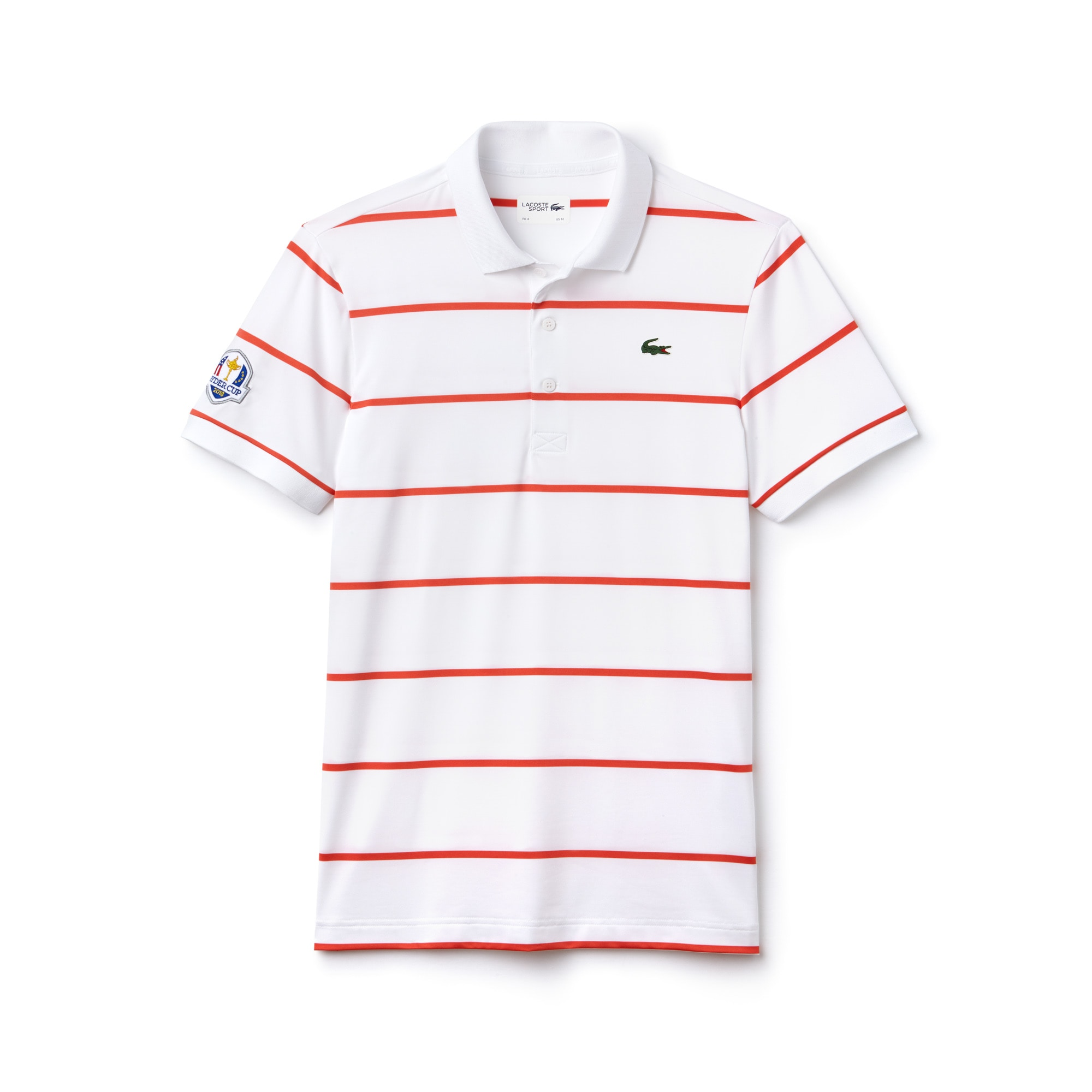 Men's Lacoste SPORT Ryder Cup Edition Striped Stretch Jersey Golf Polo Shirt