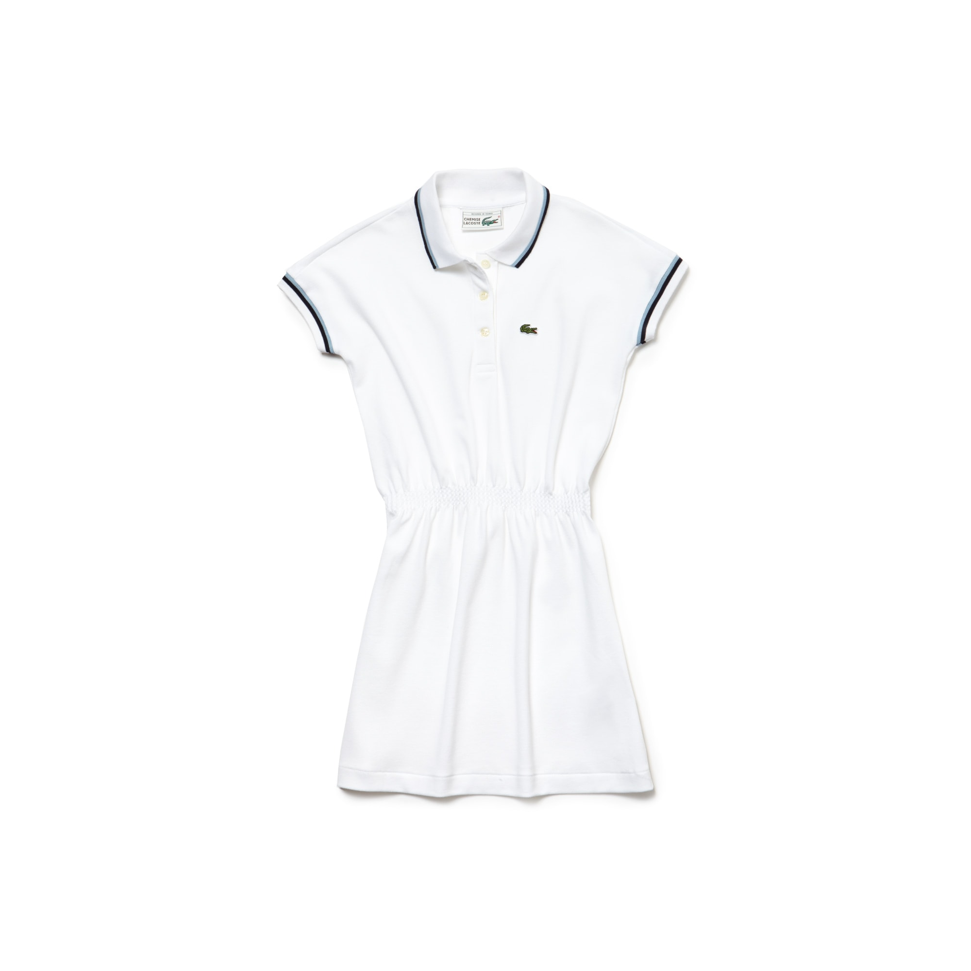 Girls' Lacoste 1980s Revival 85th Anniversary Limited Edition Piqué Polo Dress