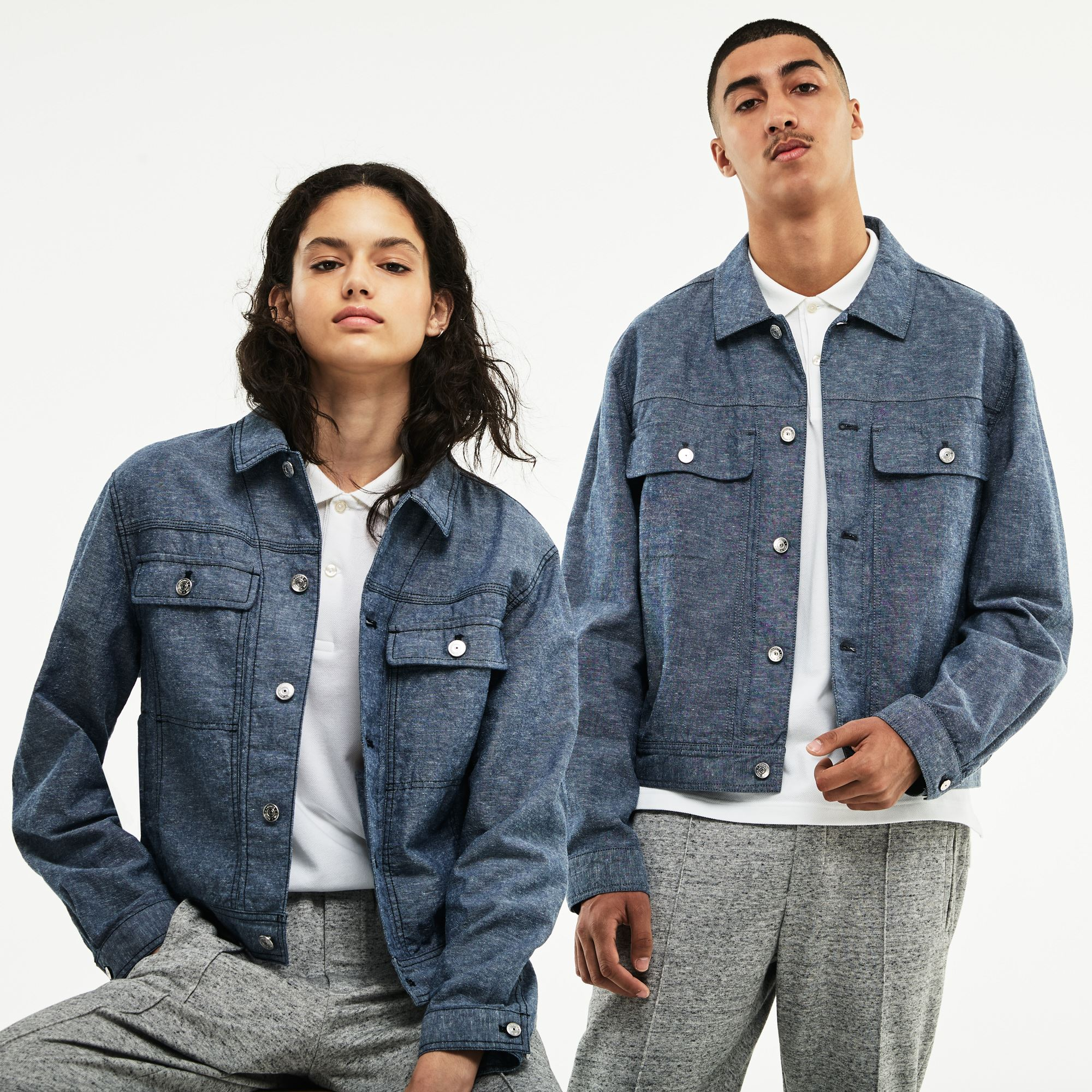 Unisex Lacoste LIVE Denim Accents Chambray Jacket