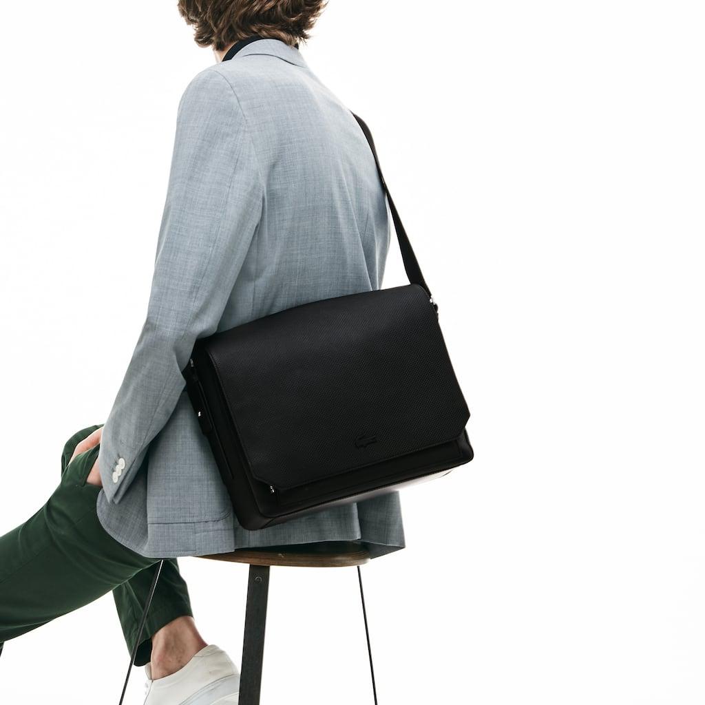 68582807191dd Men s Chantaco Matte Piqué Leather Flap Bag