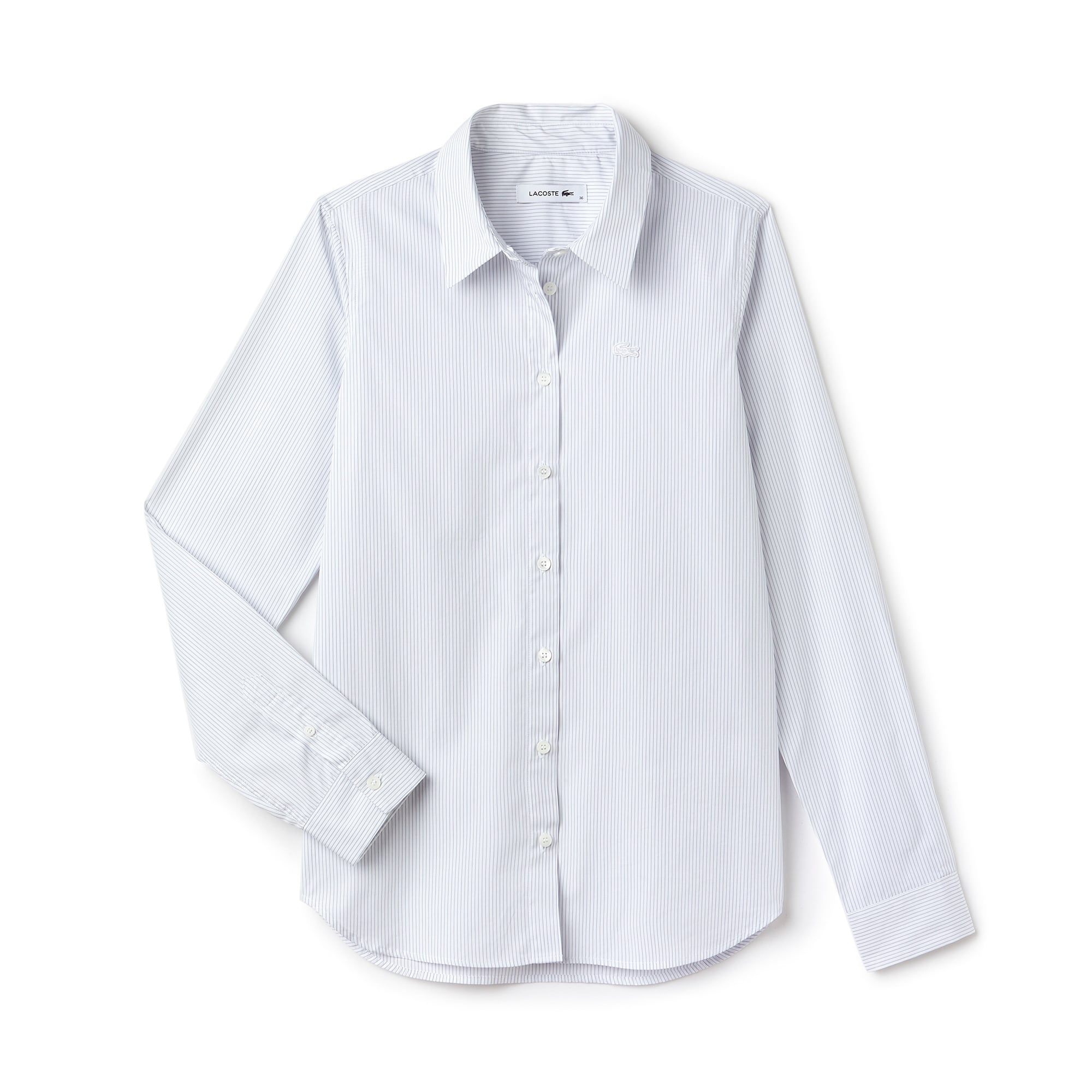 Women's Regular Fit Striped Poplin Shirt