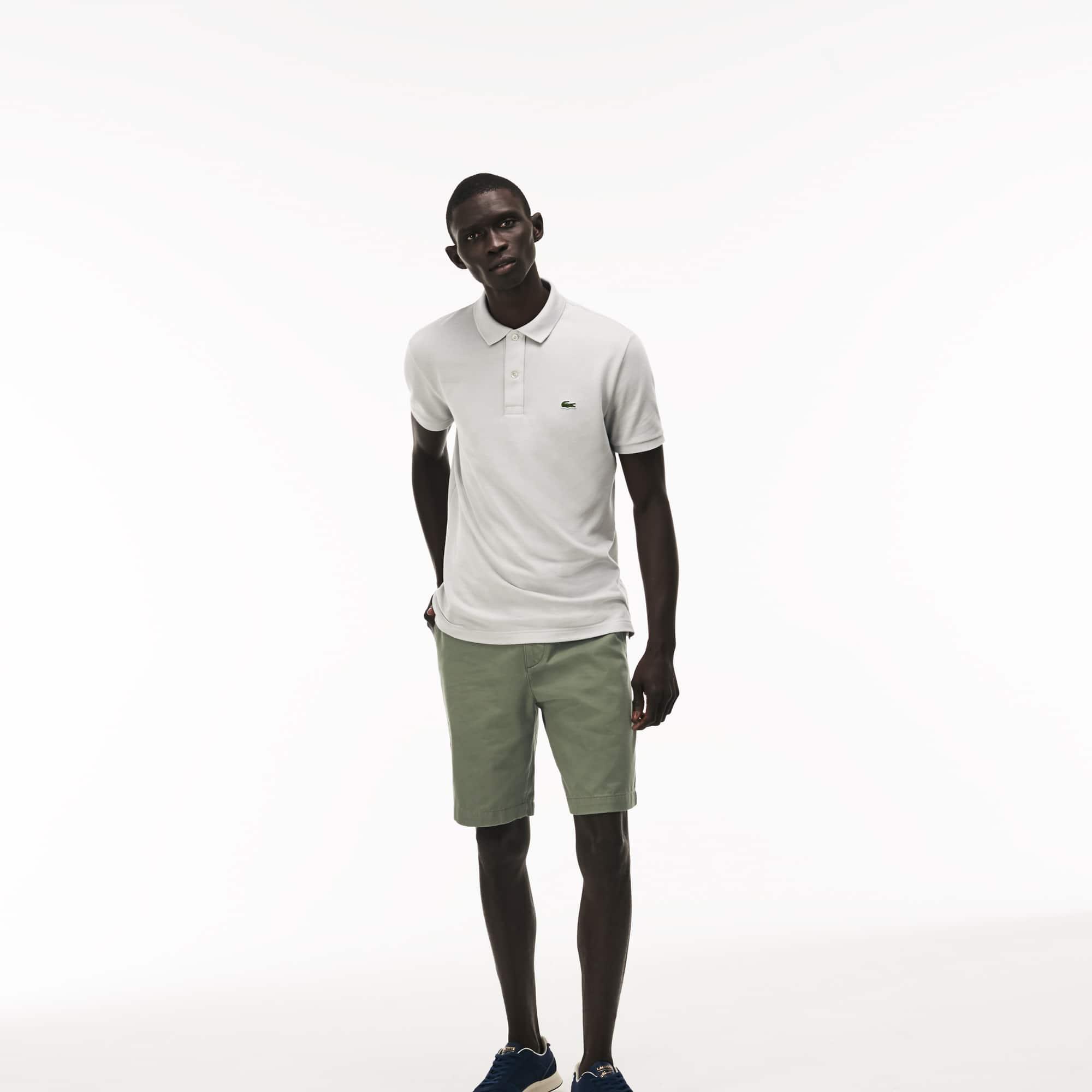 Men's Regular Fit Cotton Gabardine Bermuda Shorts