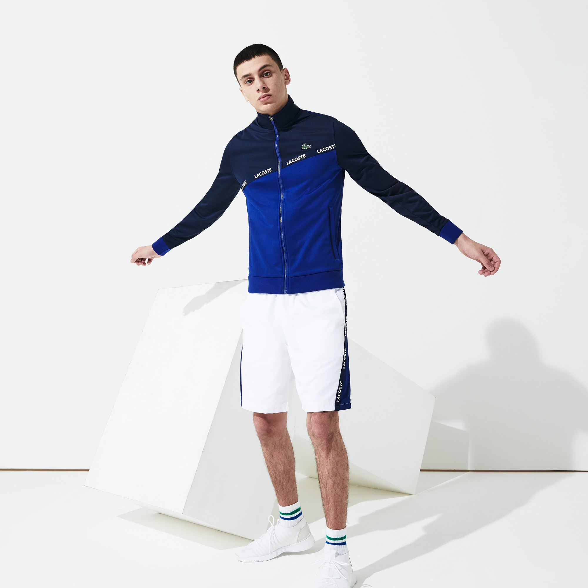 Men's Lacoste SPORT Signature Band Piqué Zip Sweatshirt