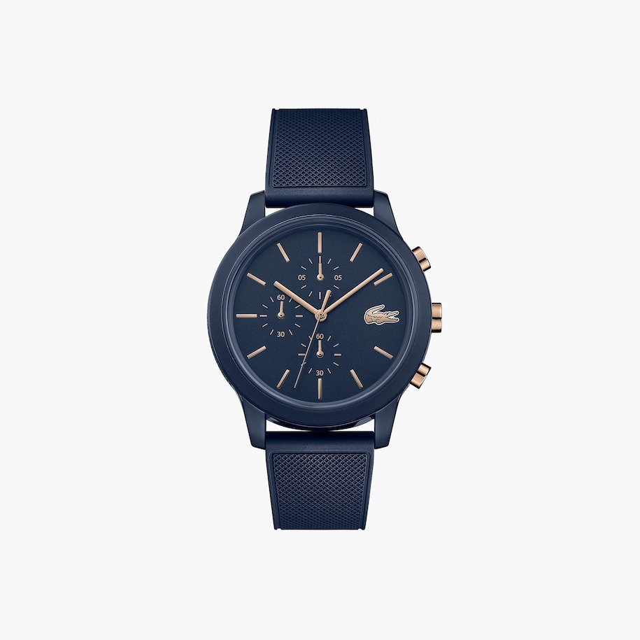 Gents Lacoste.12.12 Watch With Navy Silicone Petit Piqué Strap
