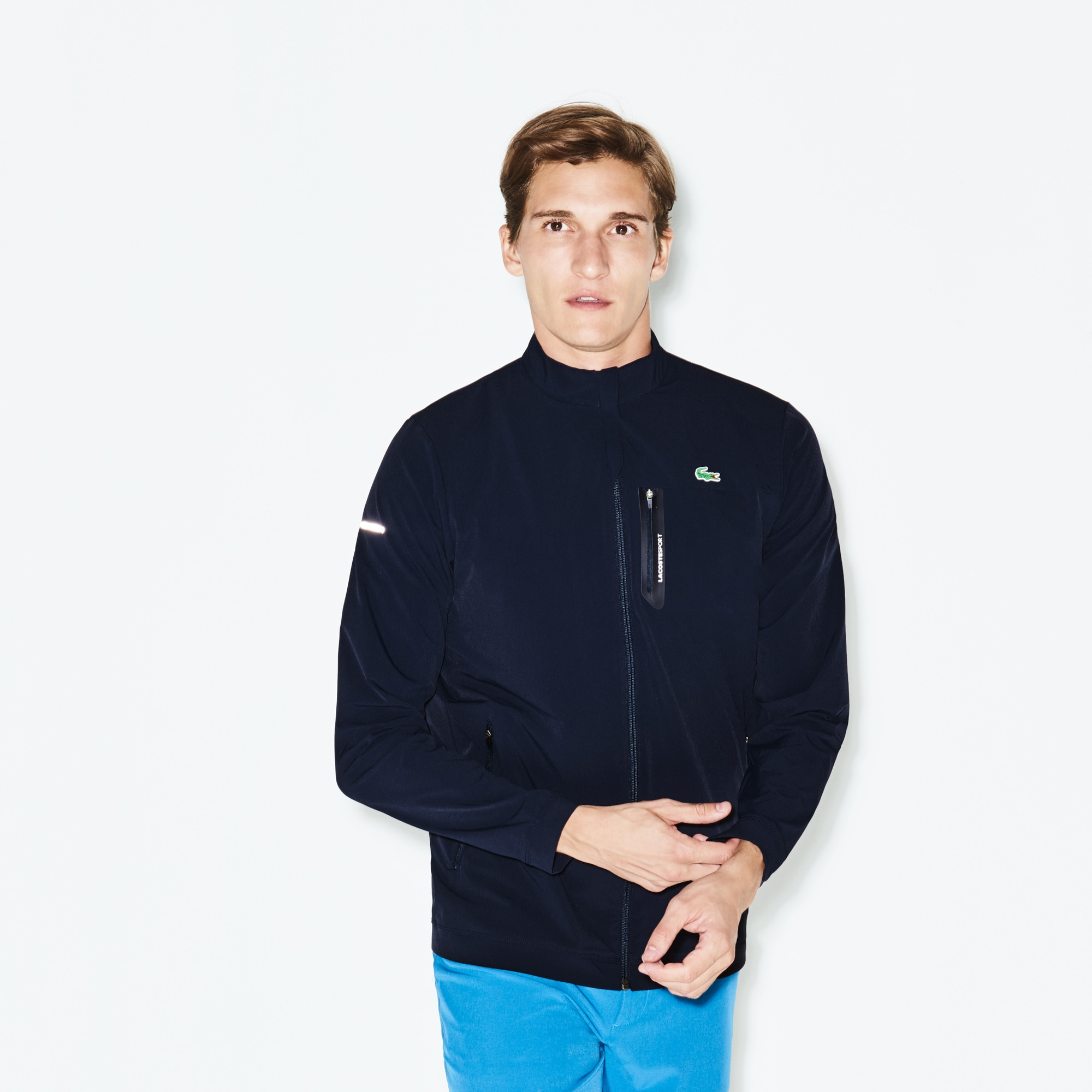 Men's Lacoste SPORT Technical Taffeta Zip Golf Jacket