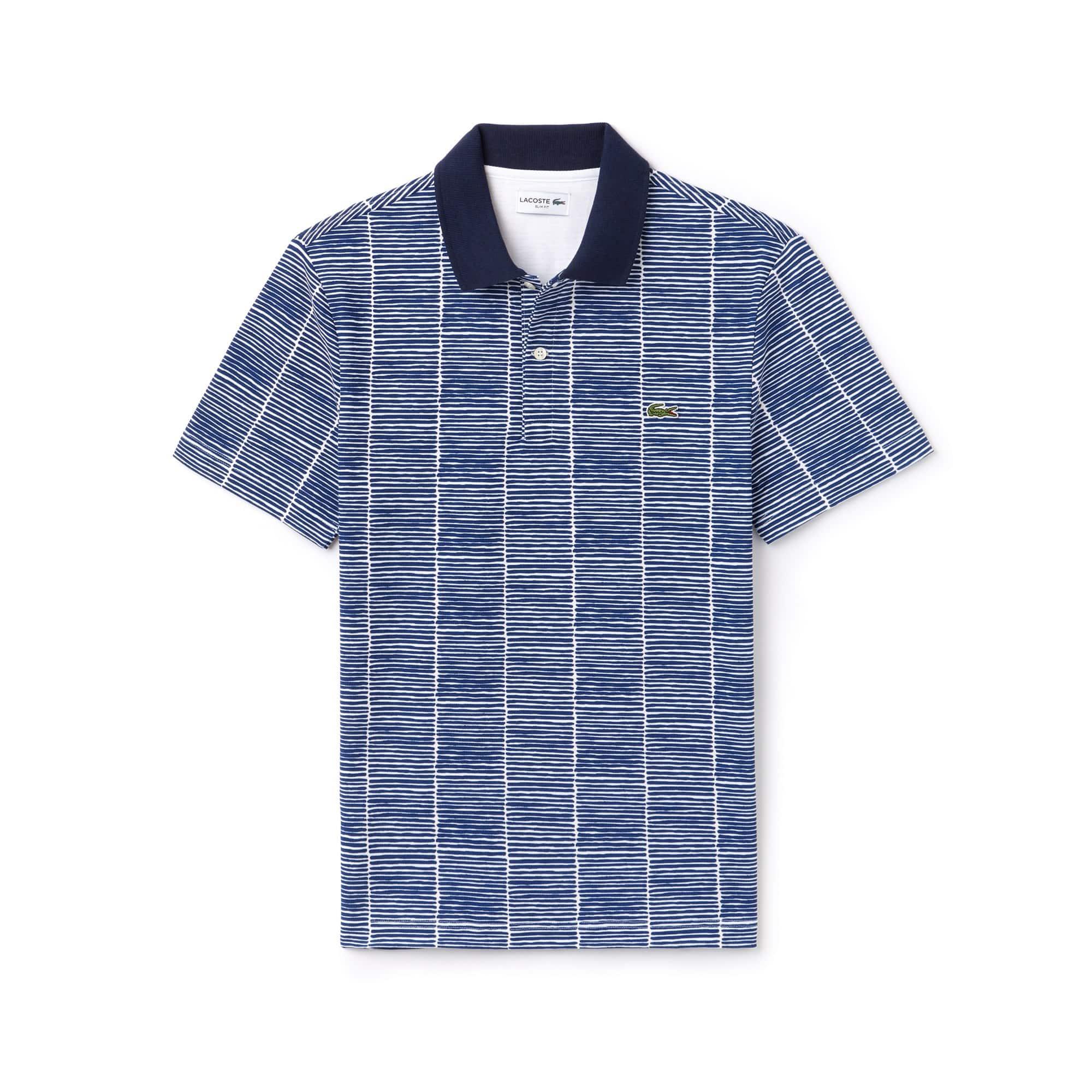 Men's Lacoste Slim Fit Print Cotton Piqué Polo Shirt