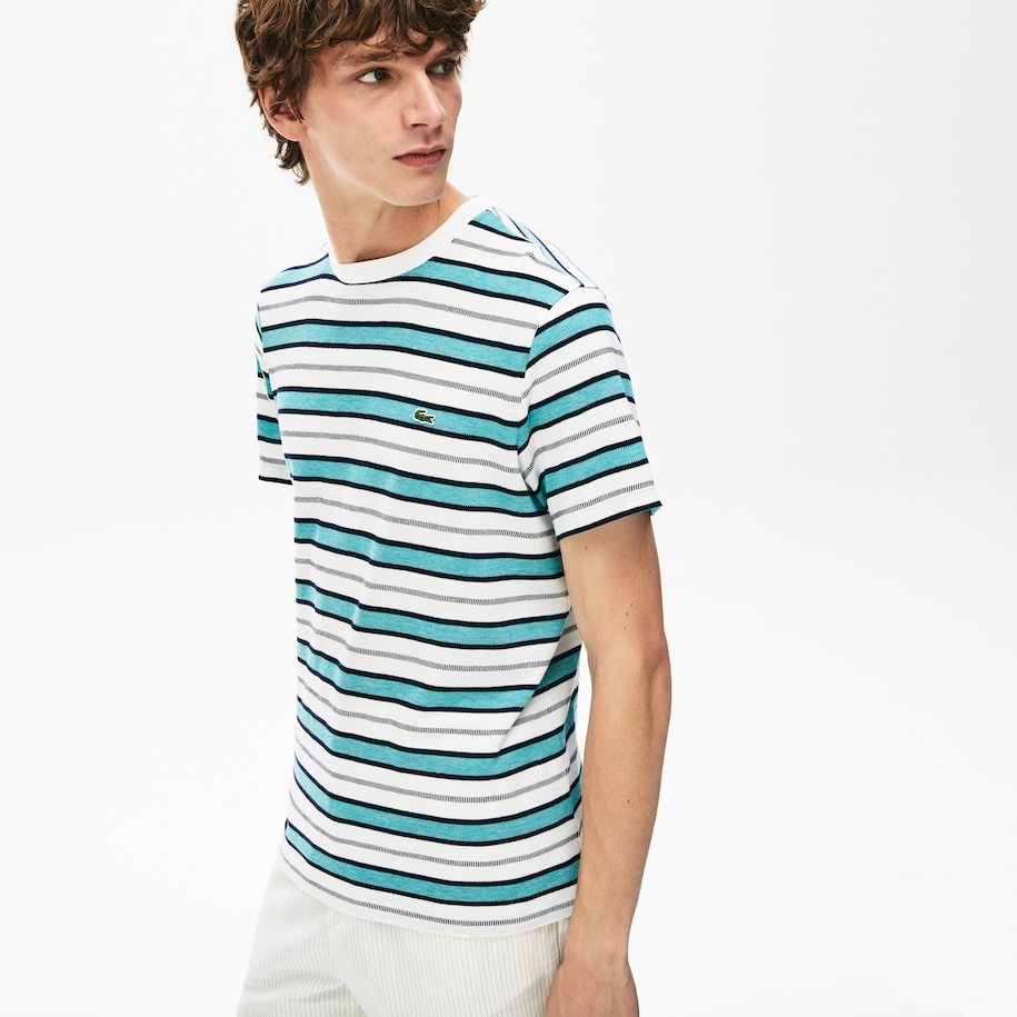 Men's Striped Crew Neck T-shirt