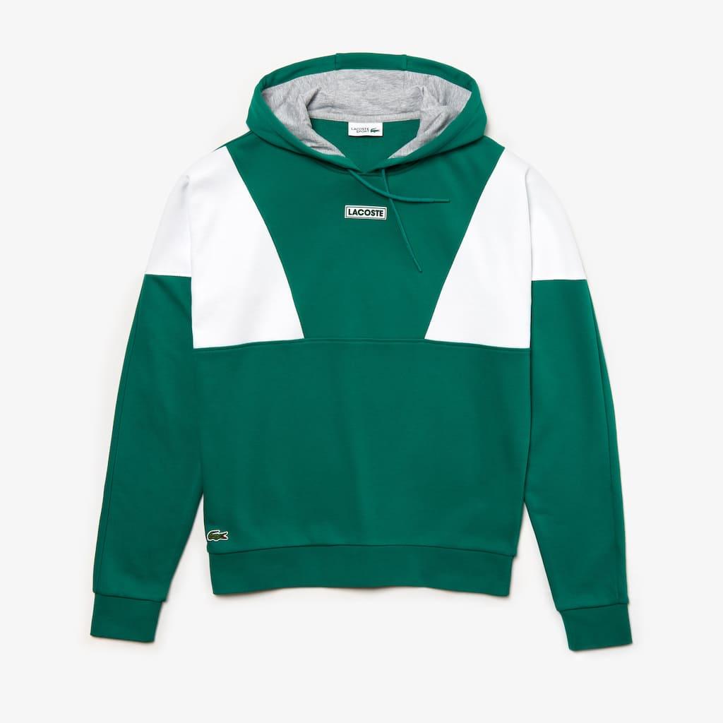 658c646eeed131 Men s Lacoste SPORT Hooded Colourblock Fleece Sweatshirt