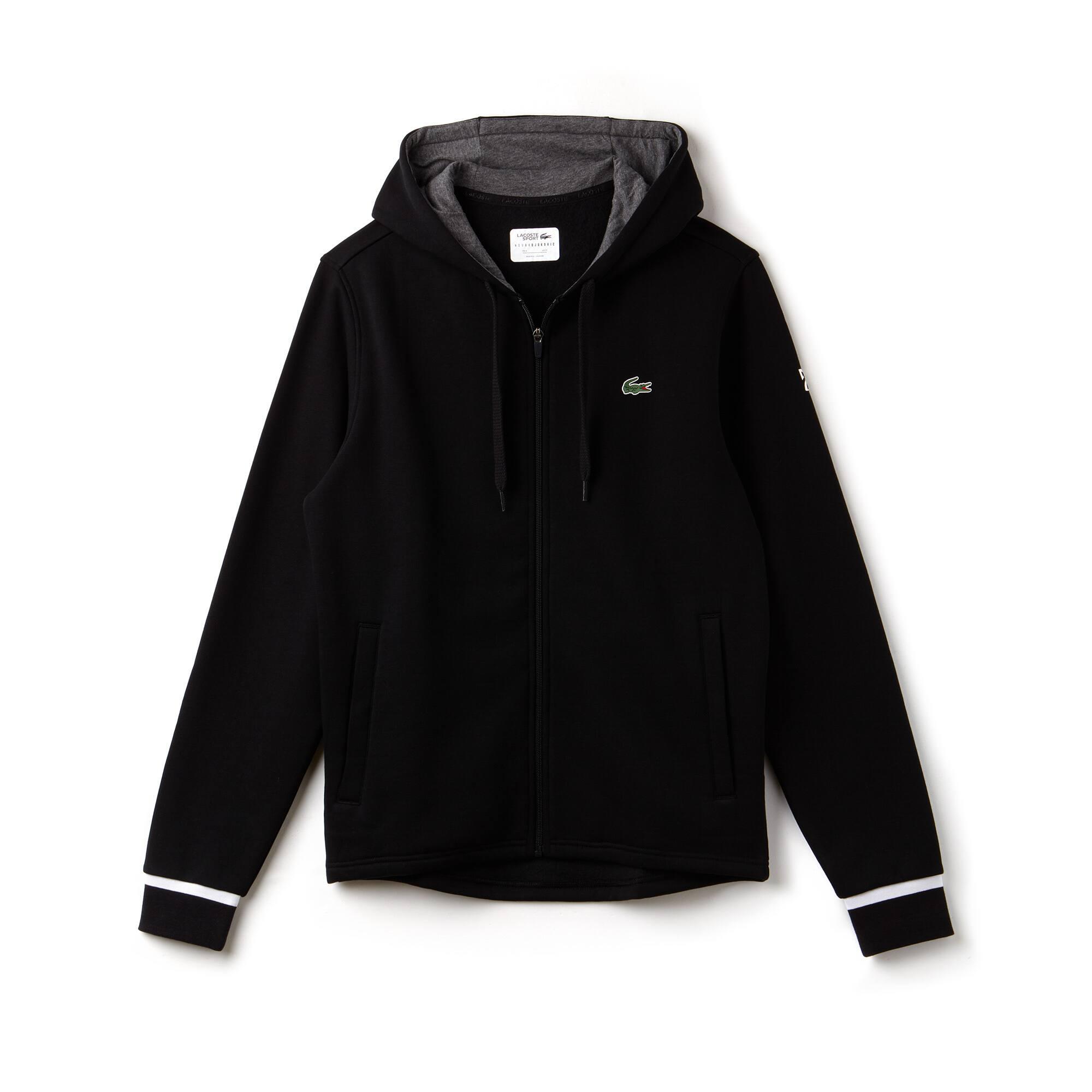 Men's Lacoste SPORT NOVAK DJOKOVIC SUPPORT WITH STYLE COLLECTION Hooded Fleece Zip Sweatshirt
