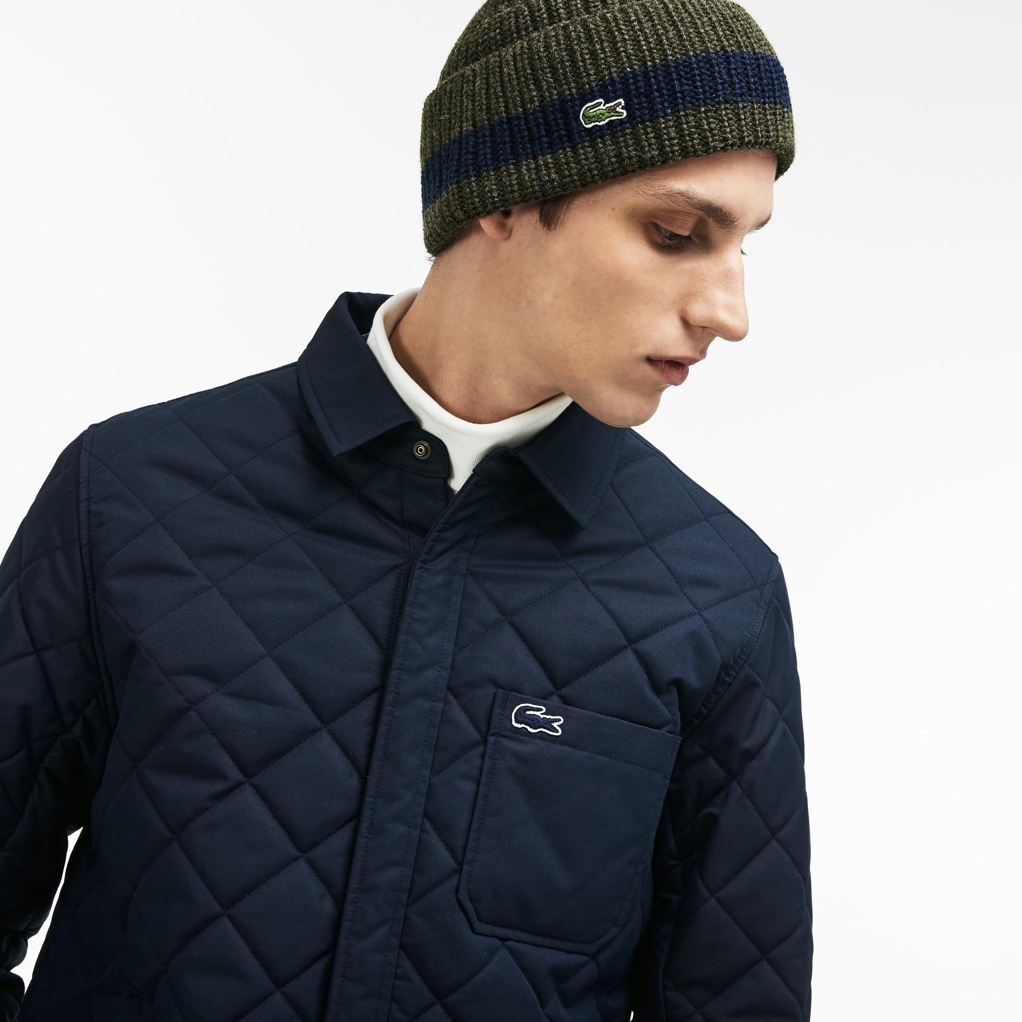 Men's Turned Edge Ribbed Wool Beanie
