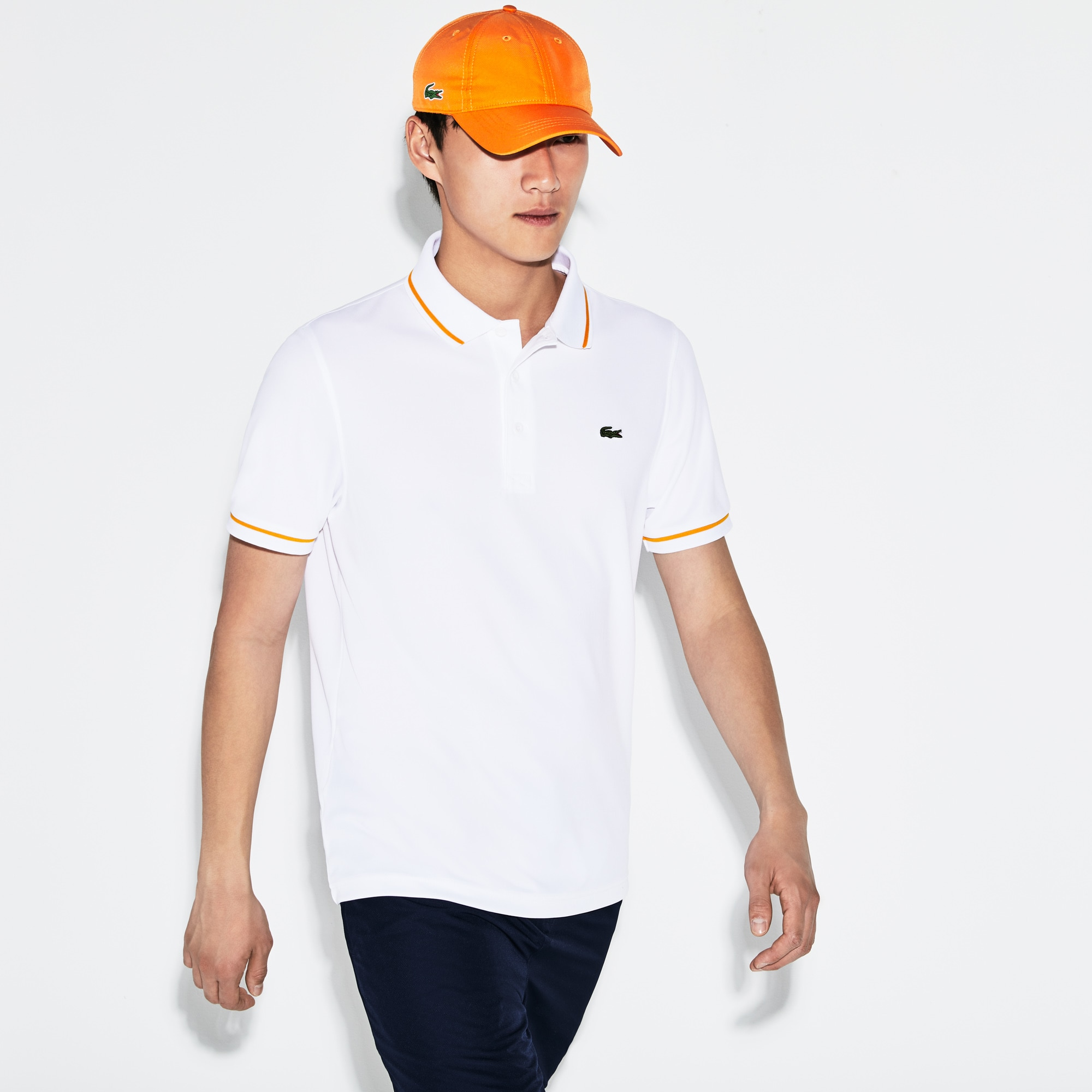 Men's Lacoste SPORT Tennis Piped Technical Piqué Polo