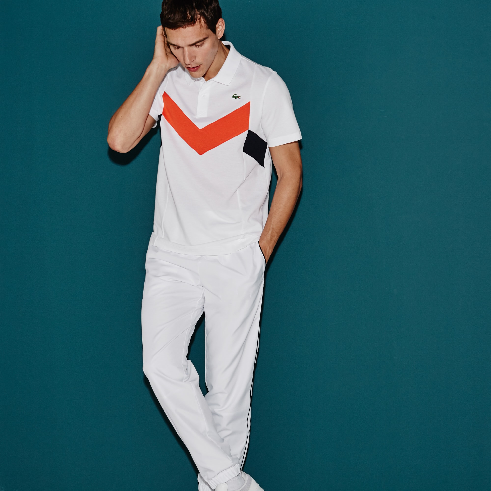 Men's Lacoste SPORT Tennis Ultra-Lightweight Colorblock Knit Polo