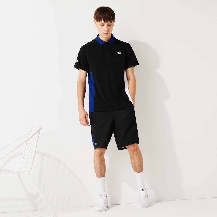 Men's Lacoste SPORT Colourblock Mesh Breathable Piqué Tennis Polo Shirt