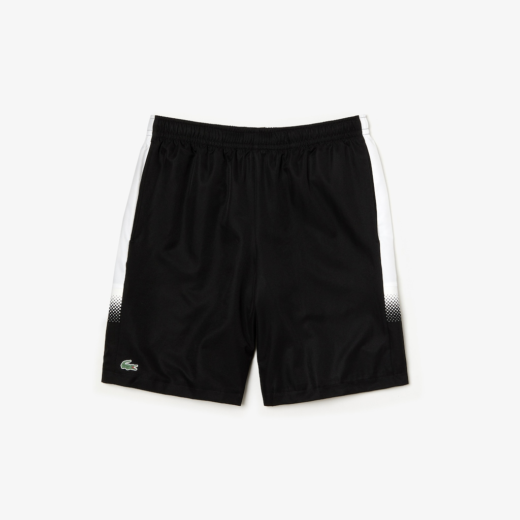 fbe99aedcb0f6 Men s Lacoste SPORT Shaded Stripe Side Paneled Tennis Shorts