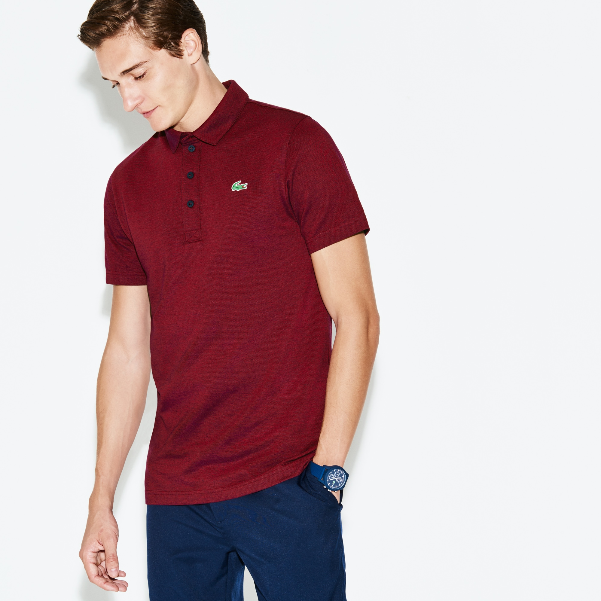 Men's Lacoste SPORT Bicolor Technical Jersey Golf Polo