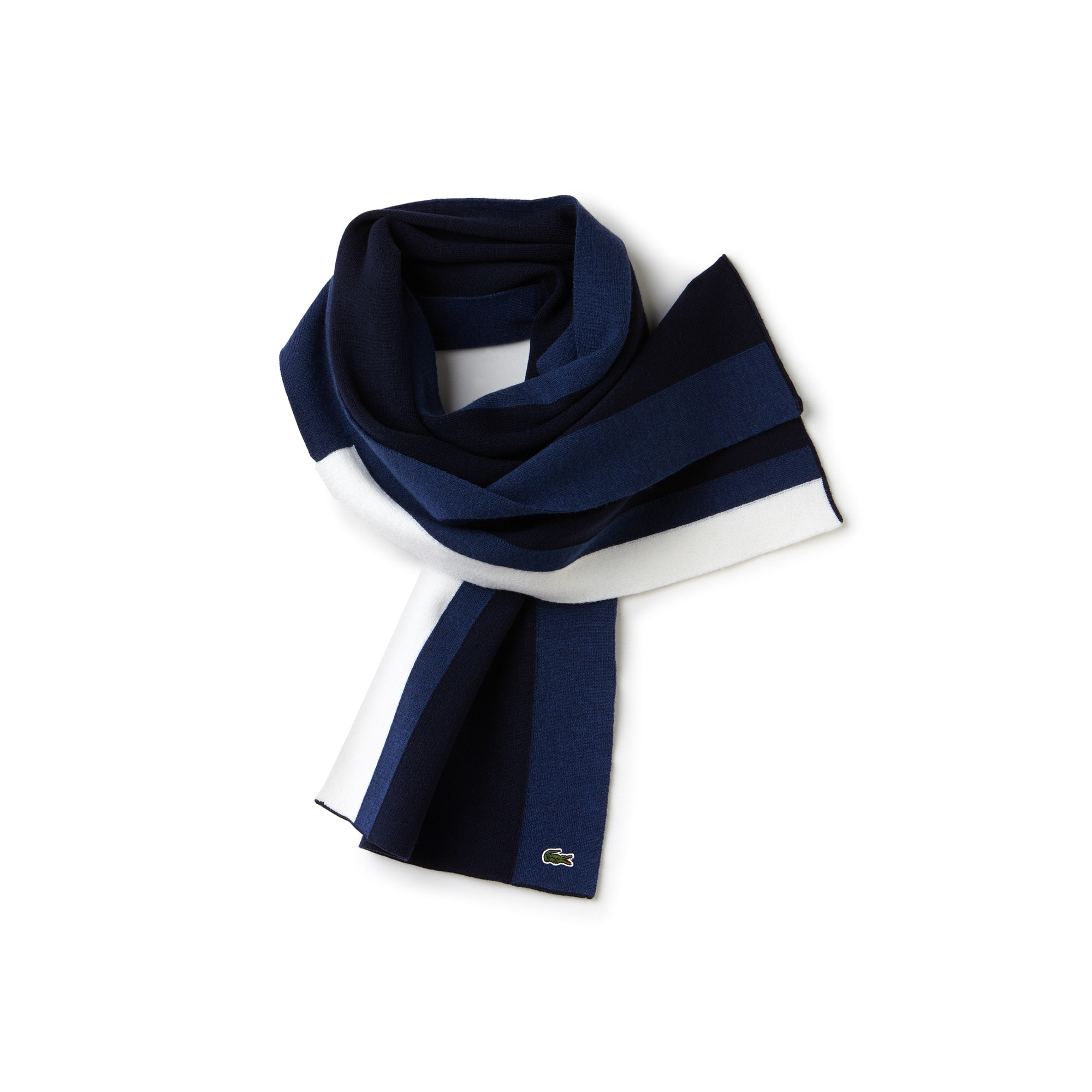Men's Made In France Stretch Colorblock Wool Scarf