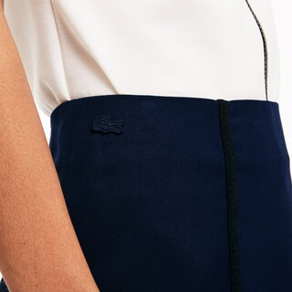 Women's Lacoste LIVE Contrast Bands Stretch A-Line Skirt