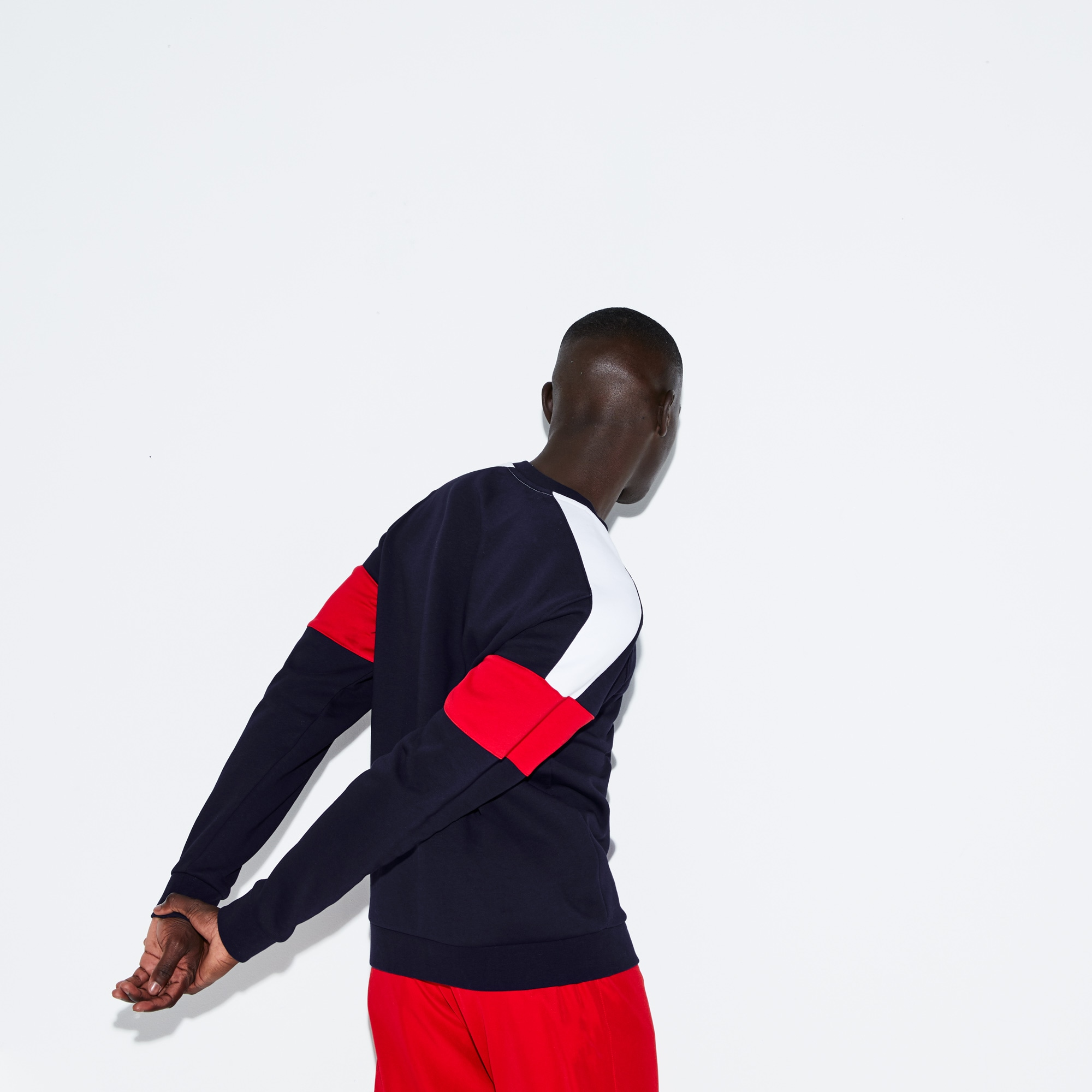Men's Lacoste SPORT Colorblock Fleece Tennis Sweatshirt