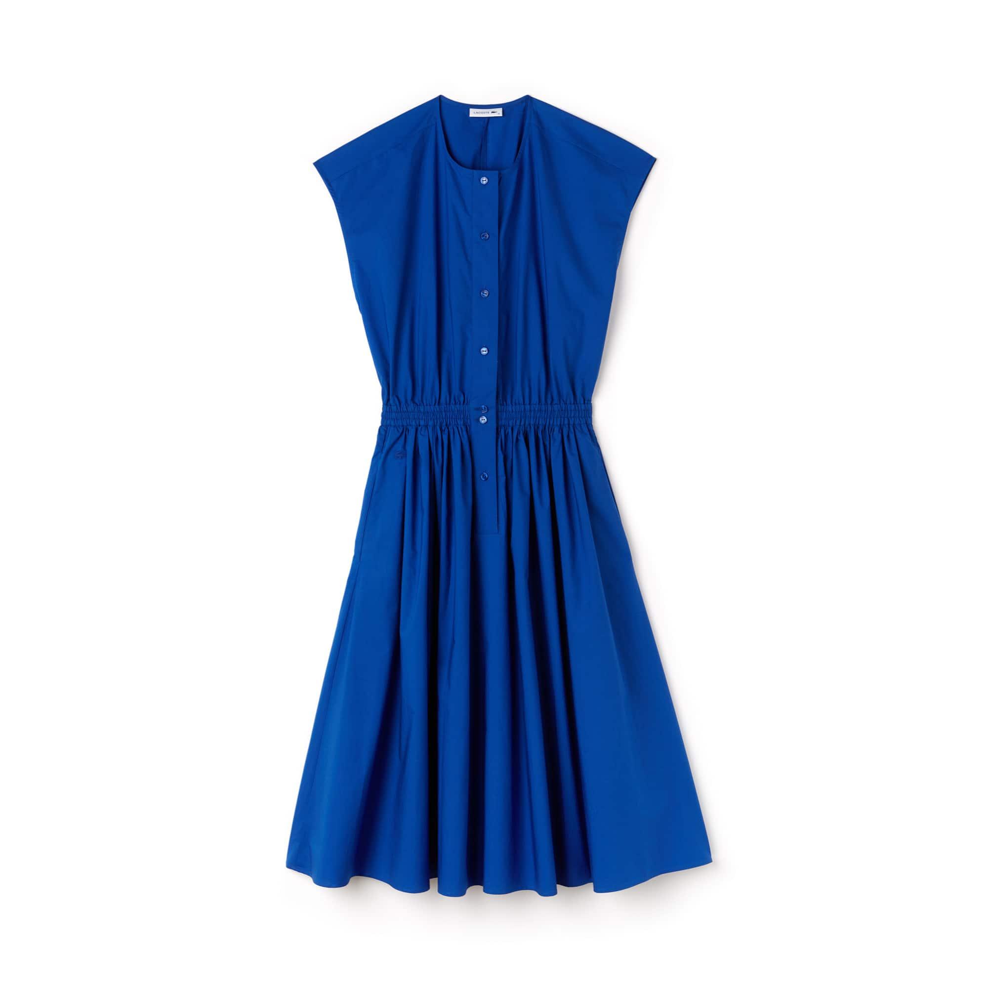 Women's Fitted Cotton Poplin Dress