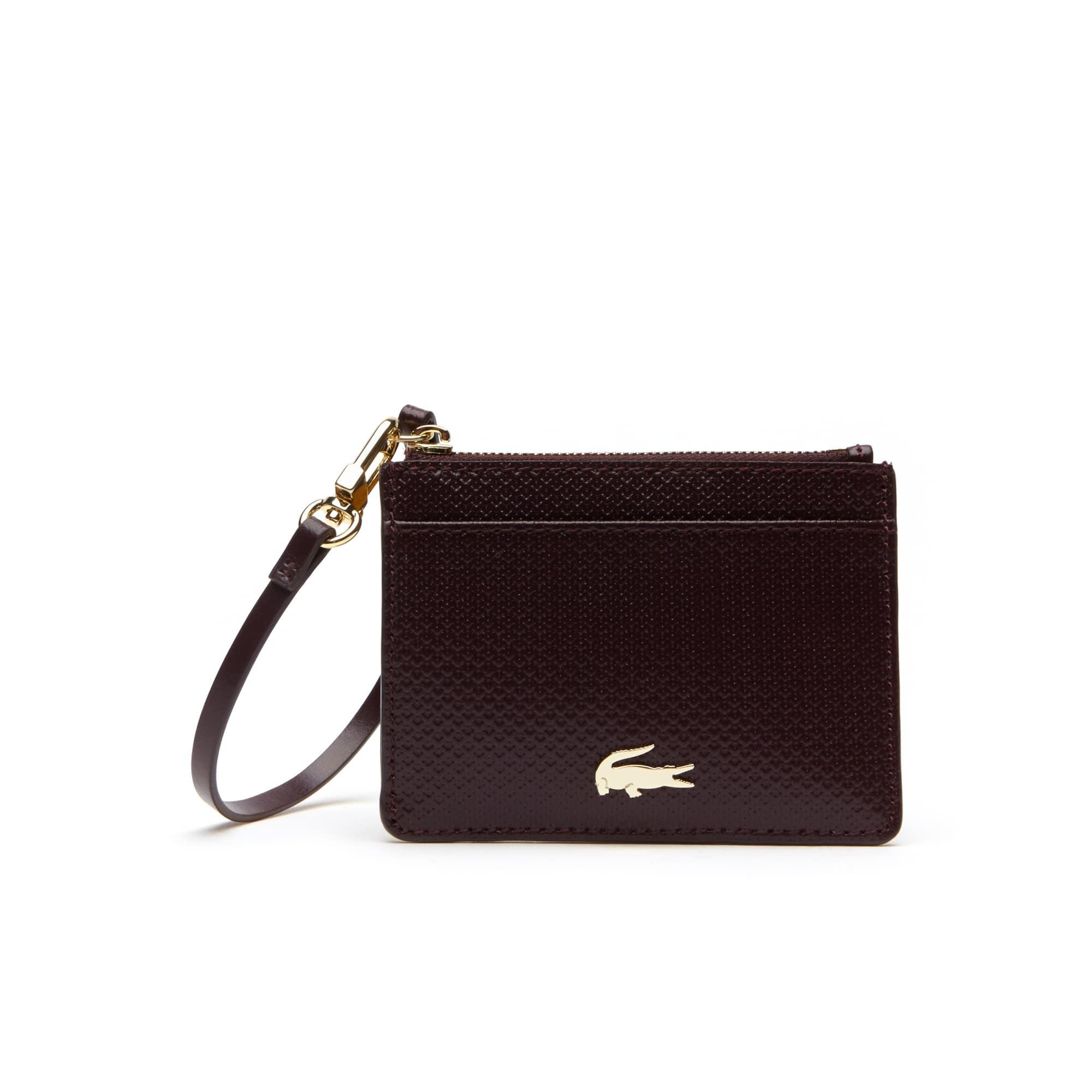 Women's Chantaco Bicolor Piqué Leather Card Holder