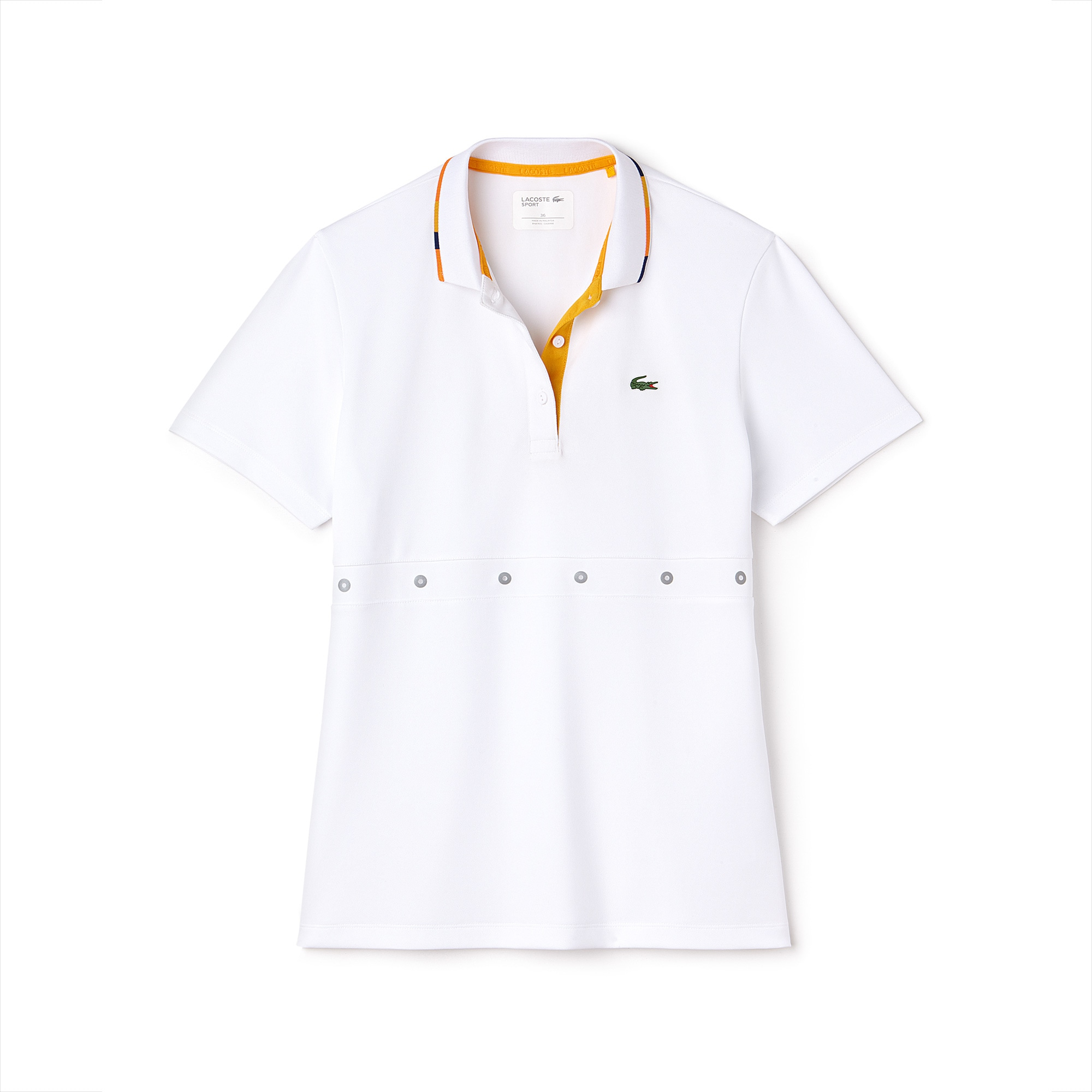 Women's Lacoste SPORT Contrast Collar Tech Piqué Tennis Polo Shirt