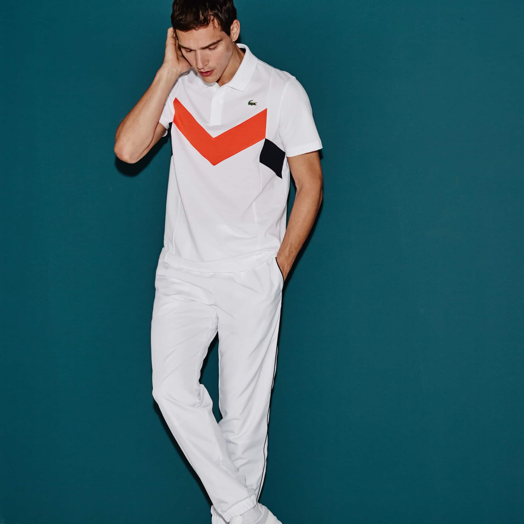 Men's Lacoste SPORT Tennis Ultra-Lightweight Colorblock Knit Polo