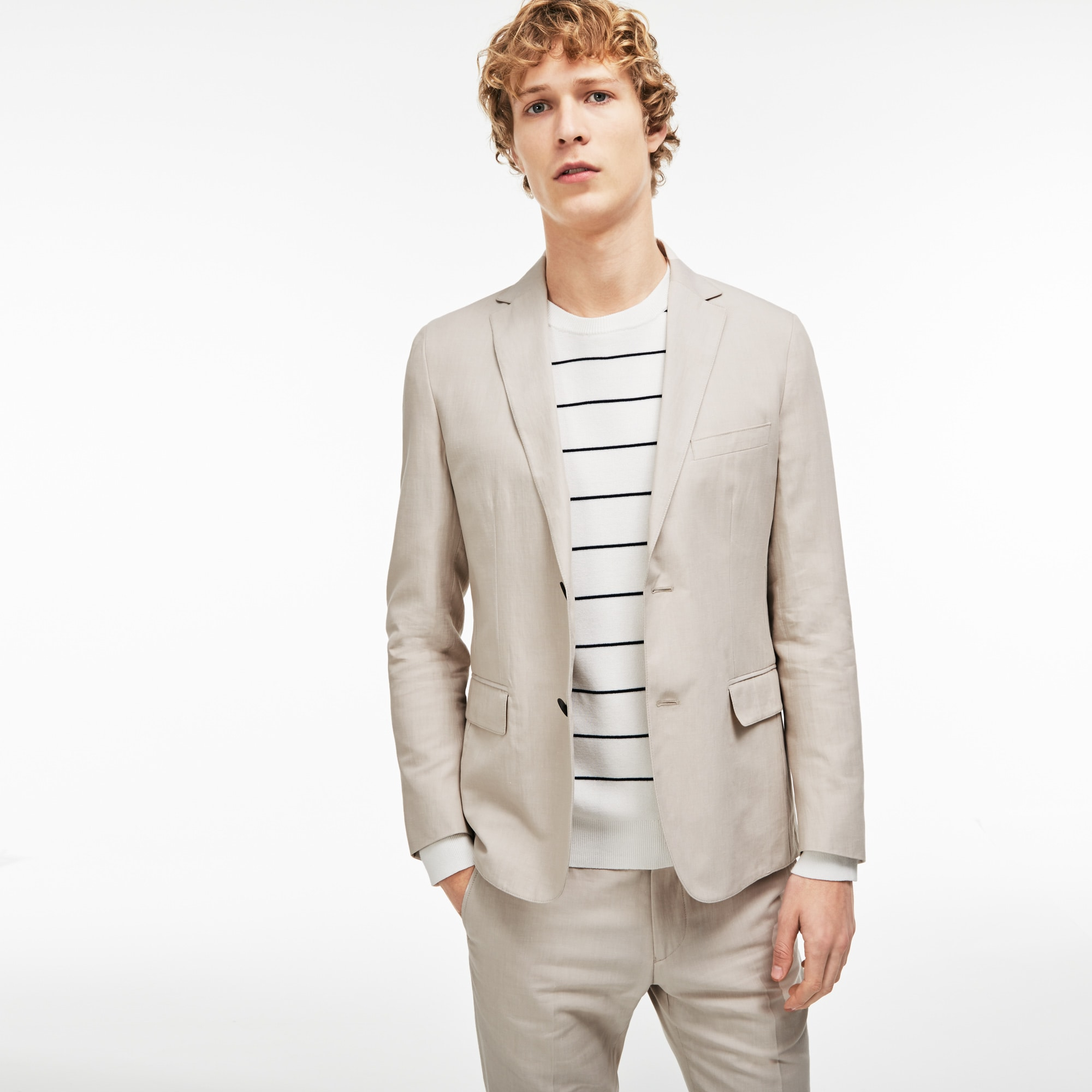 Men's Thick Cotton And Linen Canvas Blazer