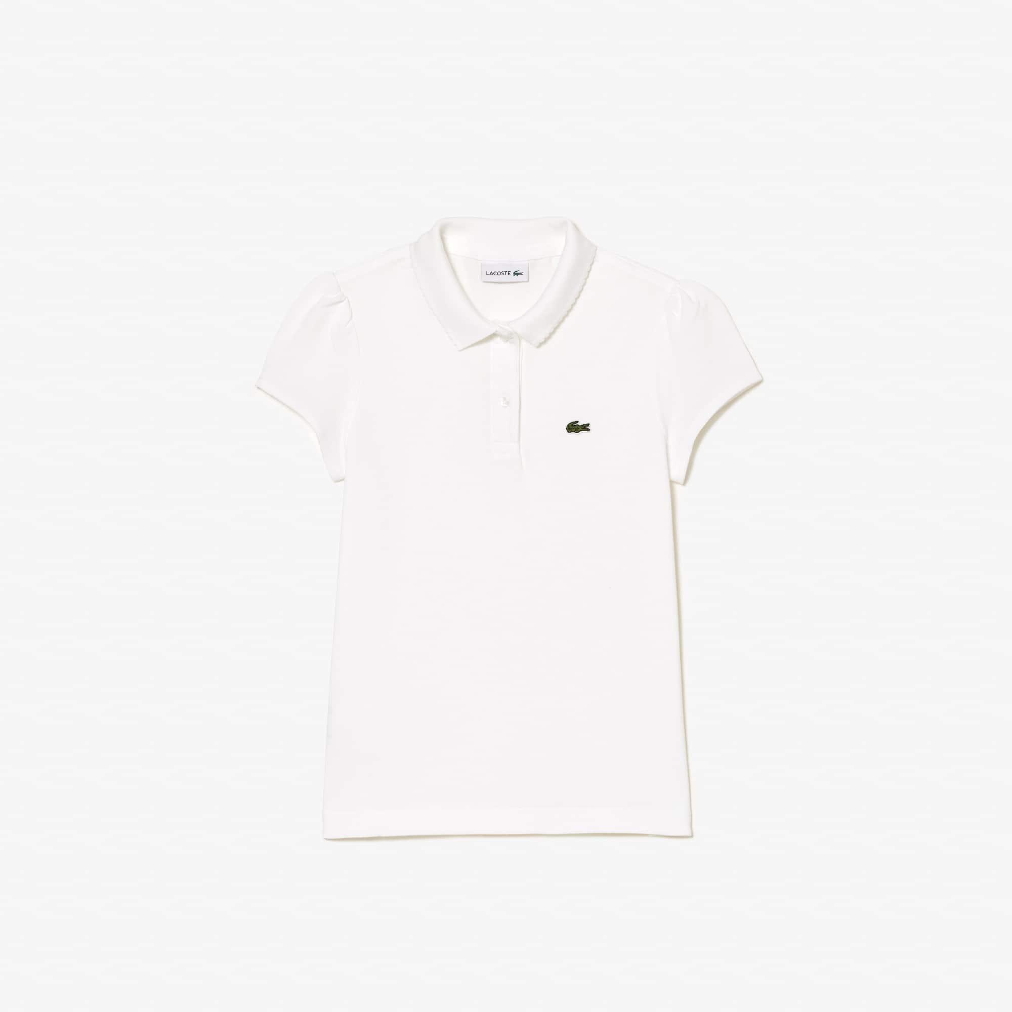 Girls' Lacoste Scalloped Collar Mini Piqué Polo