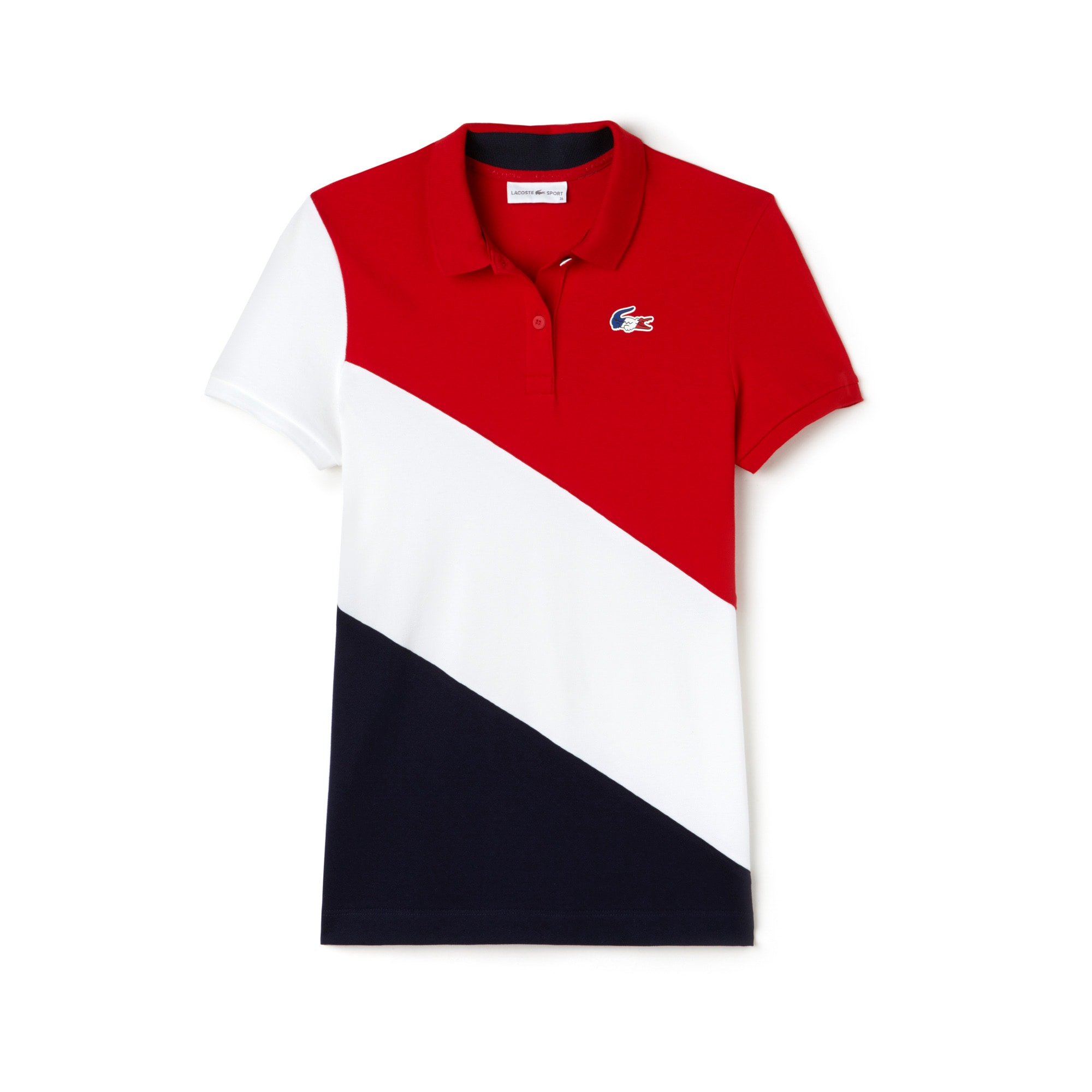 Women's Lacoste FRENCH SPORTING SPIRIT Edition Colorblock Mini Piqué Polo