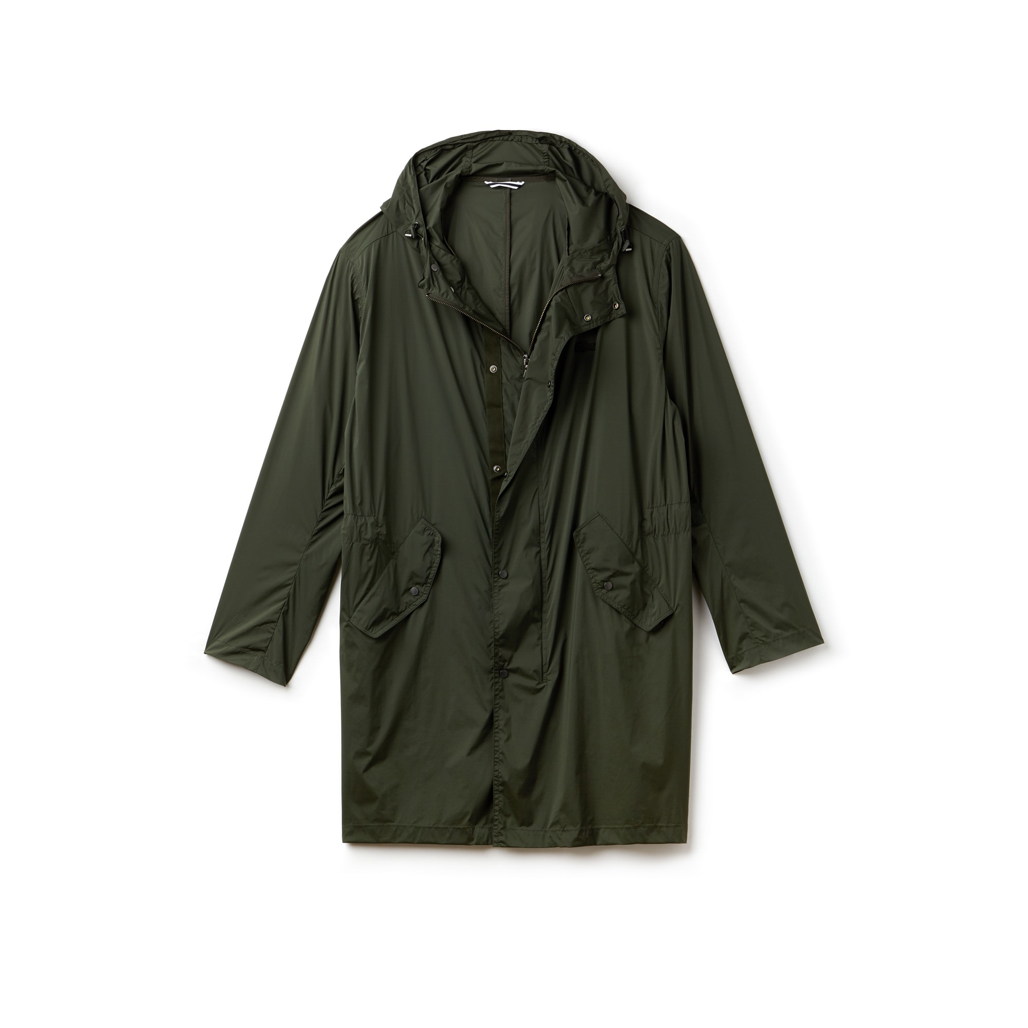 Men's Lacoste MOTION Long Hooded Unicolour Stretch Taffeta Windbreaker
