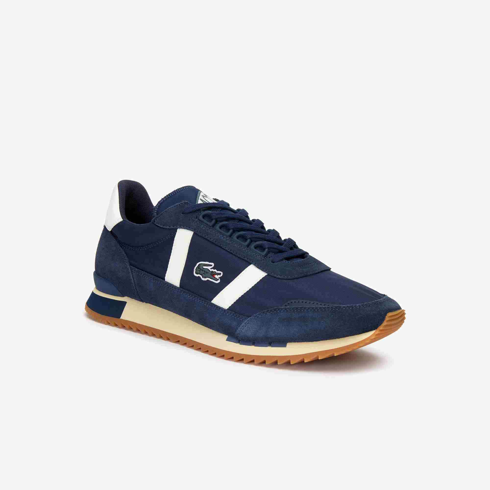 Men's Partner Retro Textile and Suede Trainers