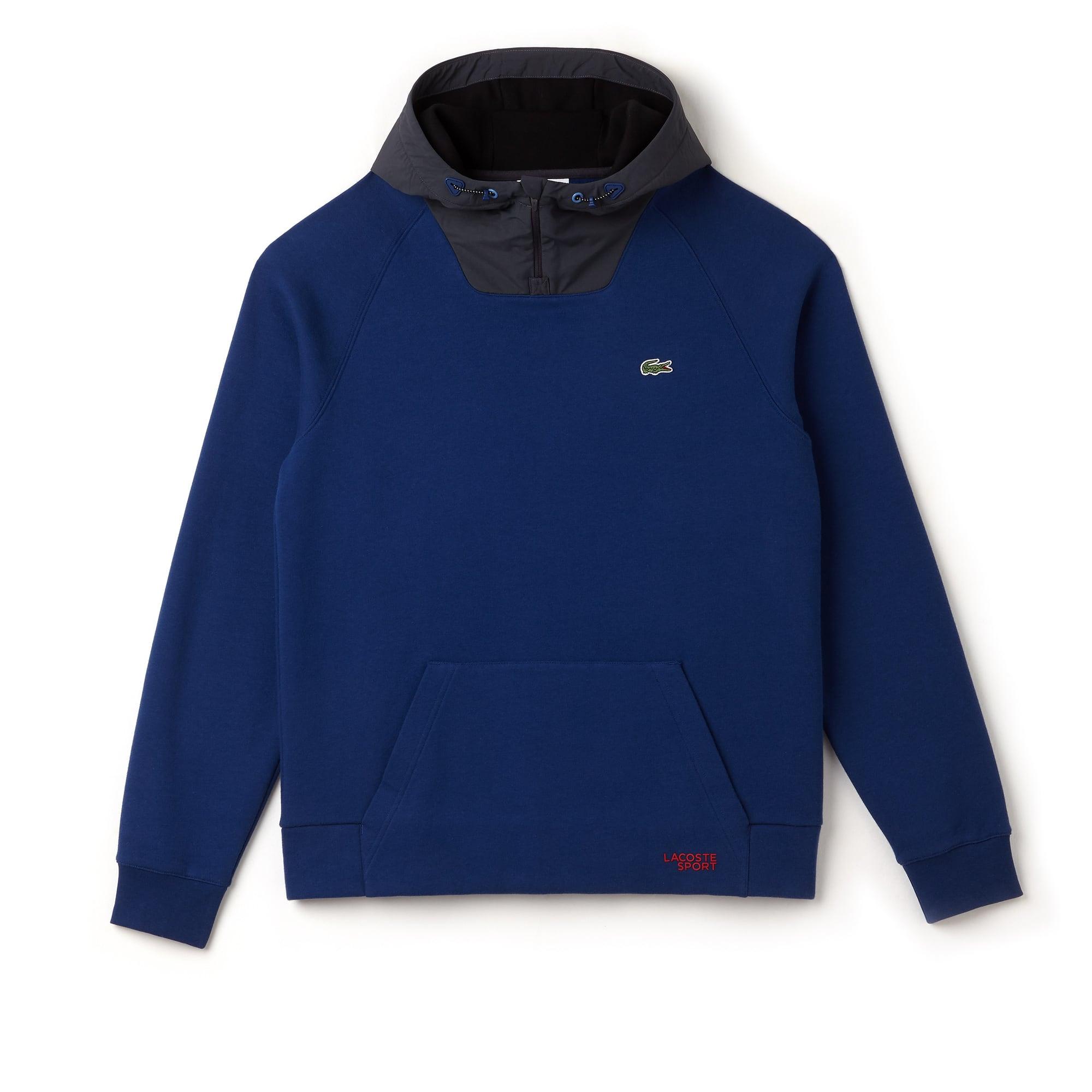 Men's Lacoste SPORT Contrast Hood Fleece Tennis Sweatshirt