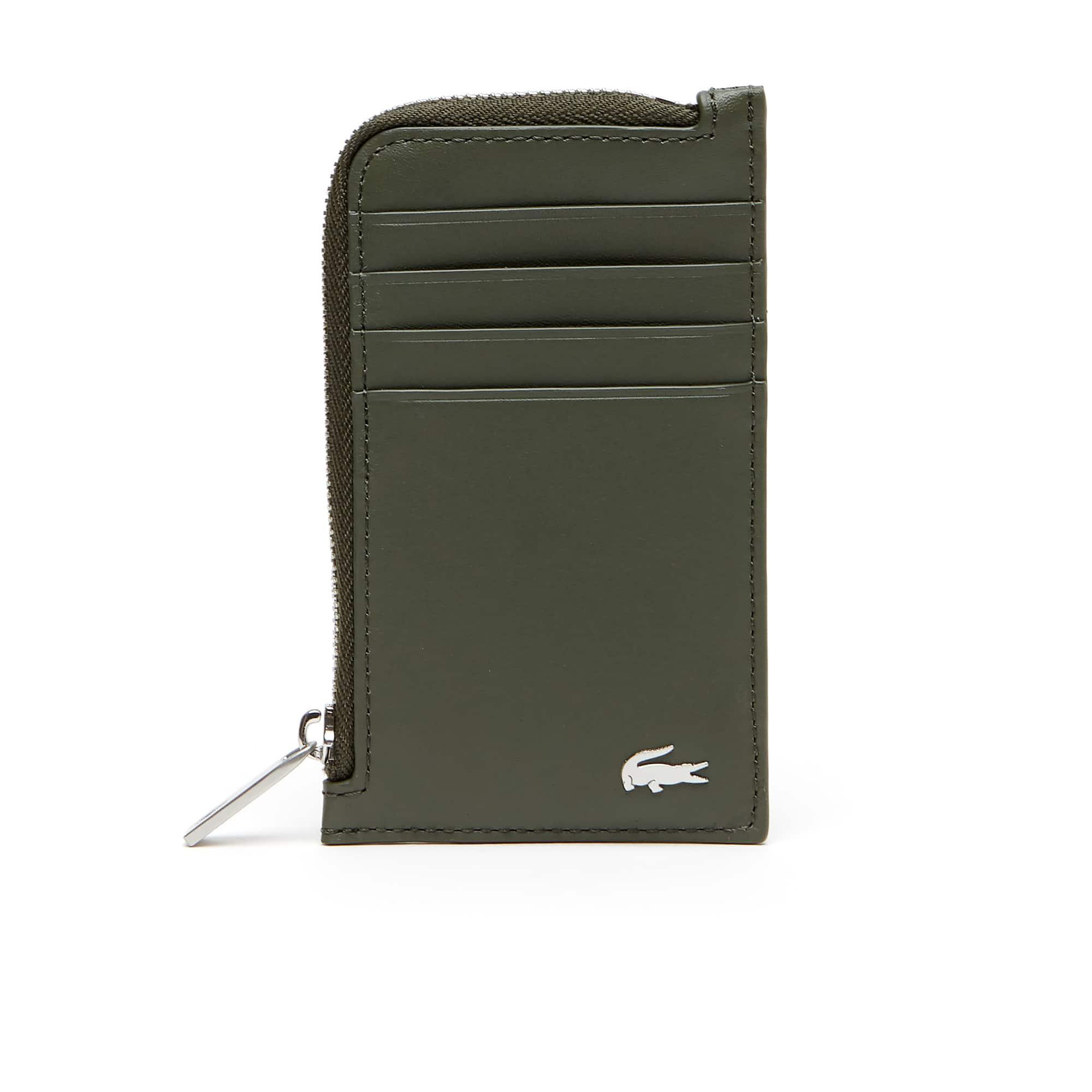 Men's FG Leather Zip Card Holder