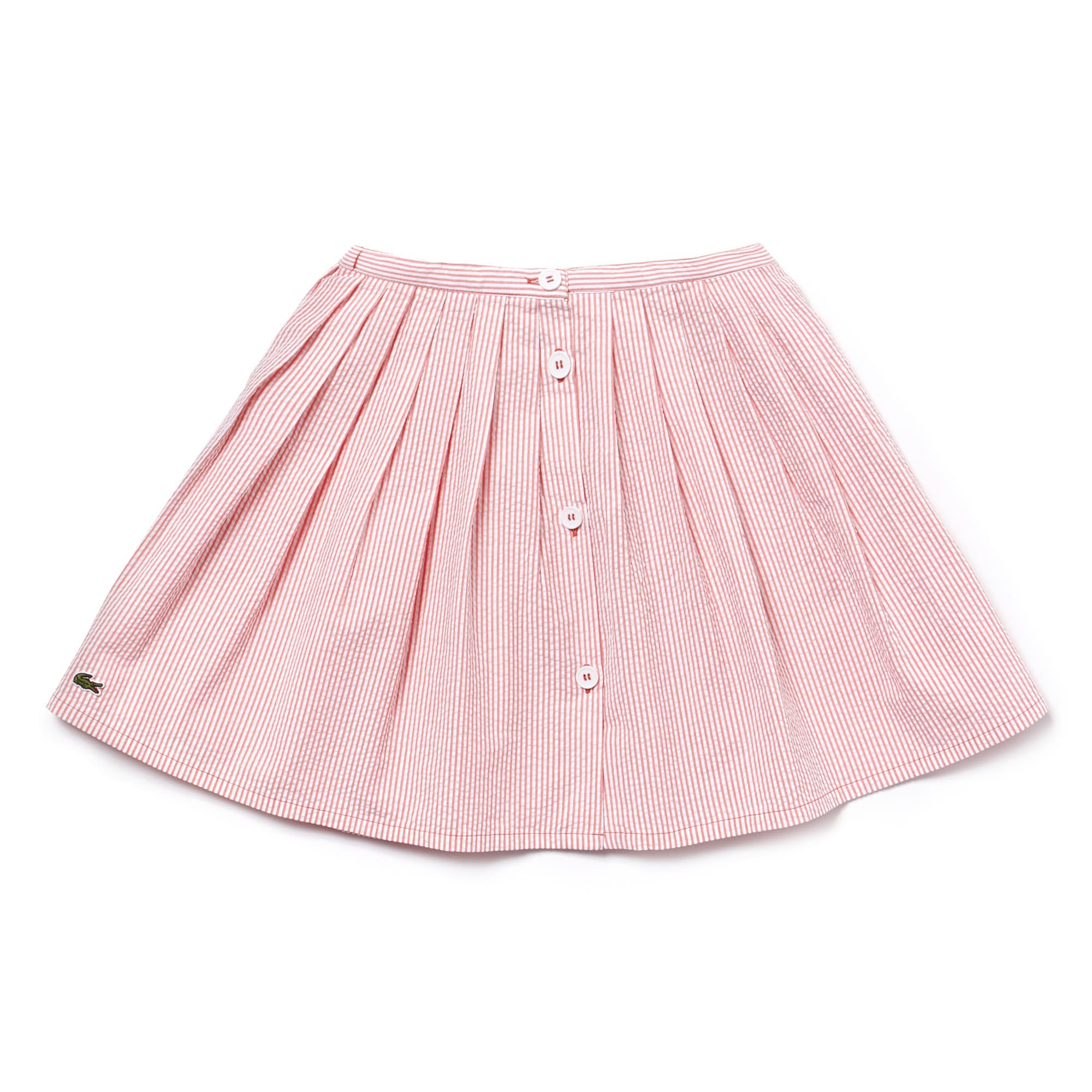 Girls' Cotton Seersucker Pleated Skirt