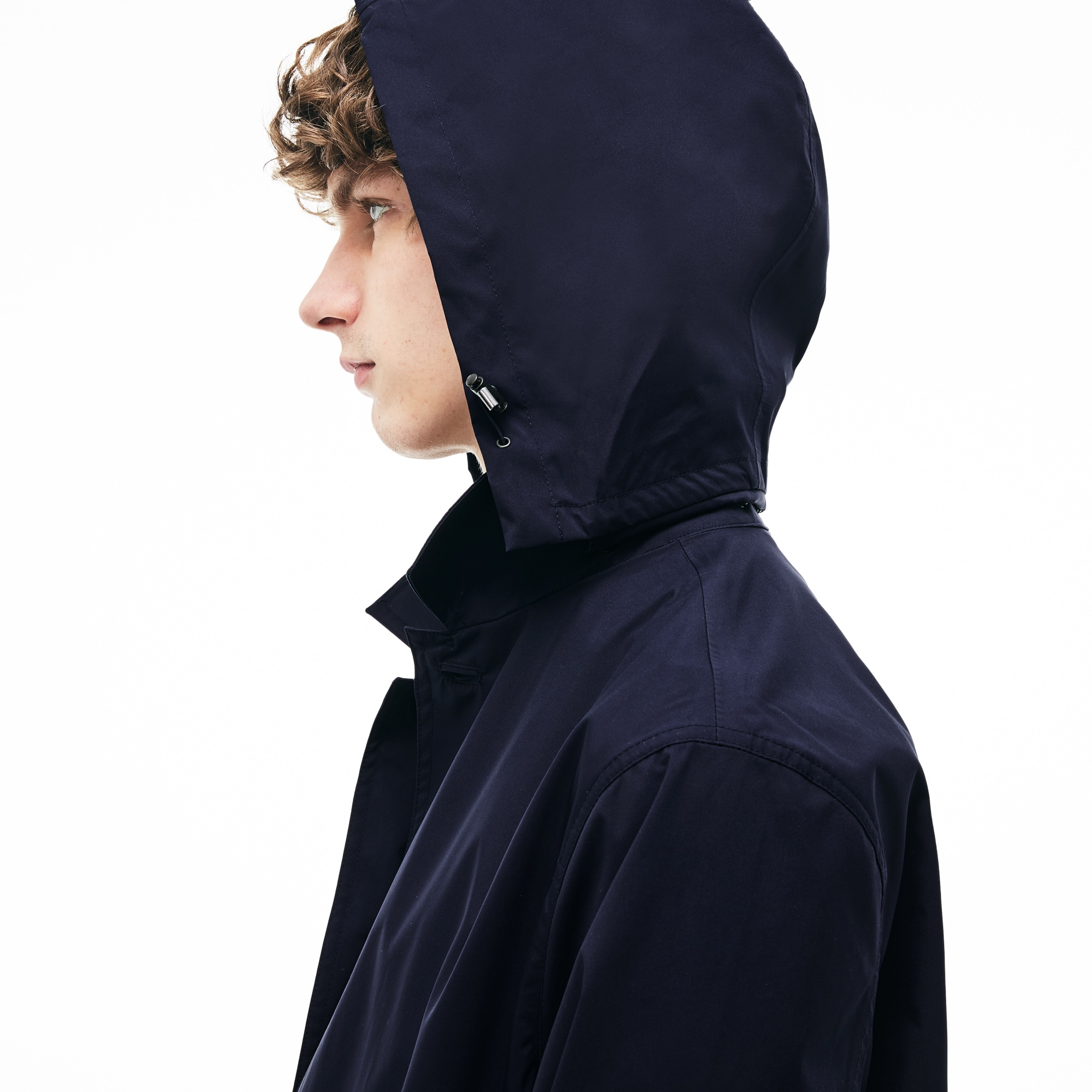 Men's Detachable Hood Raincoat