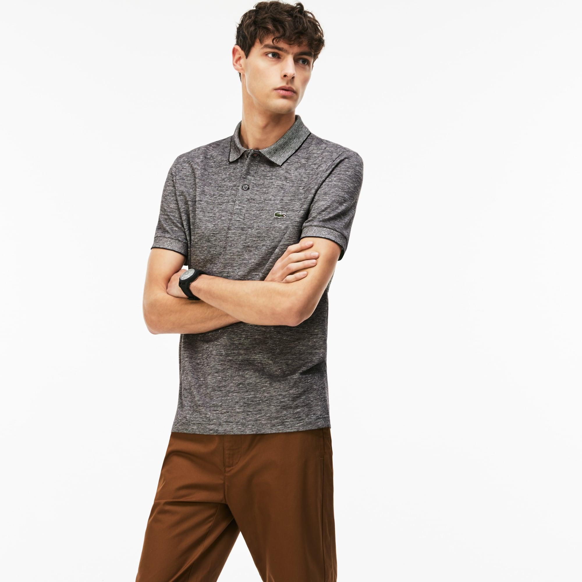 Men's Lacoste Regular Fit Texturized Caviar Piqué Polo Shirt