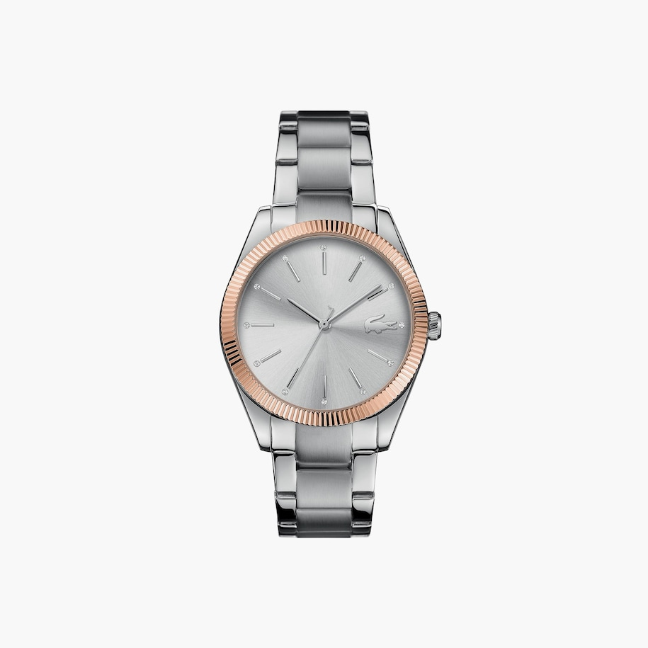 Ladies Lacoste Parisienne Watch With Matte / Shiny Silver Strap
