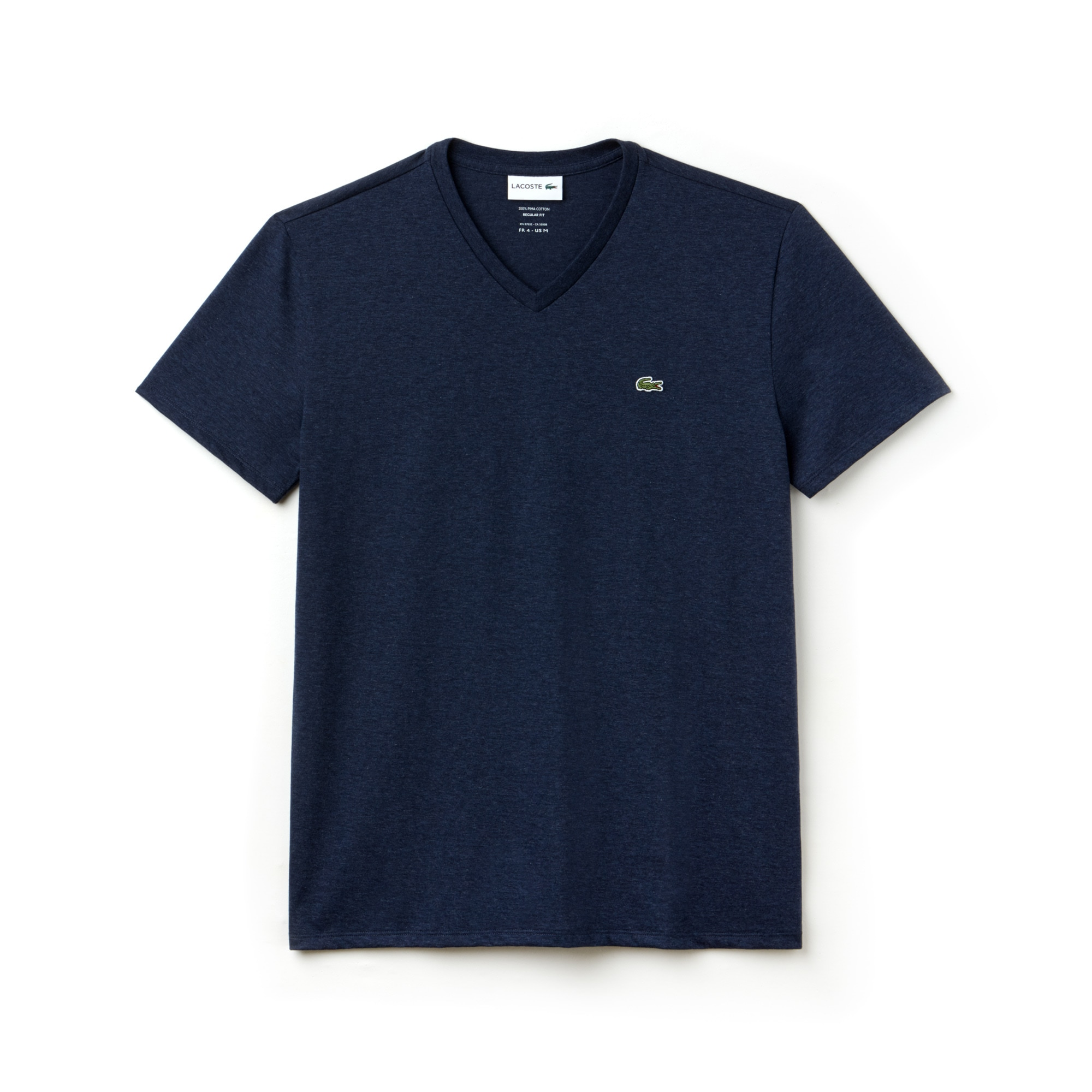 Men's V Neck Lacoste Jersey Pima T-shirt