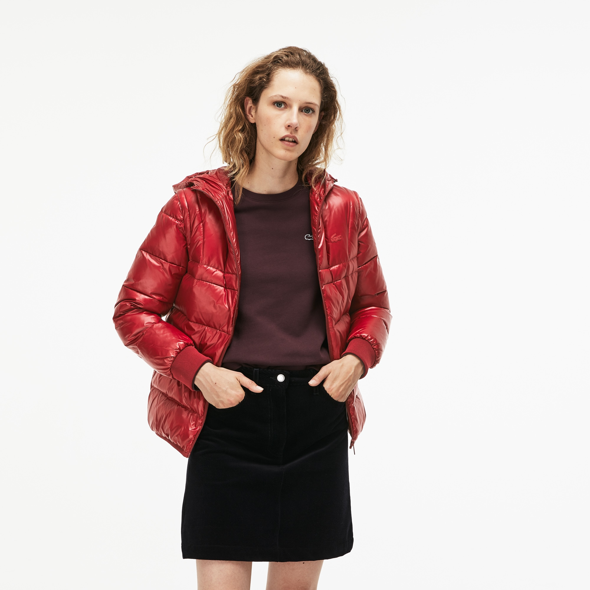 Women's Hooded Quilted Taffeta Jacket