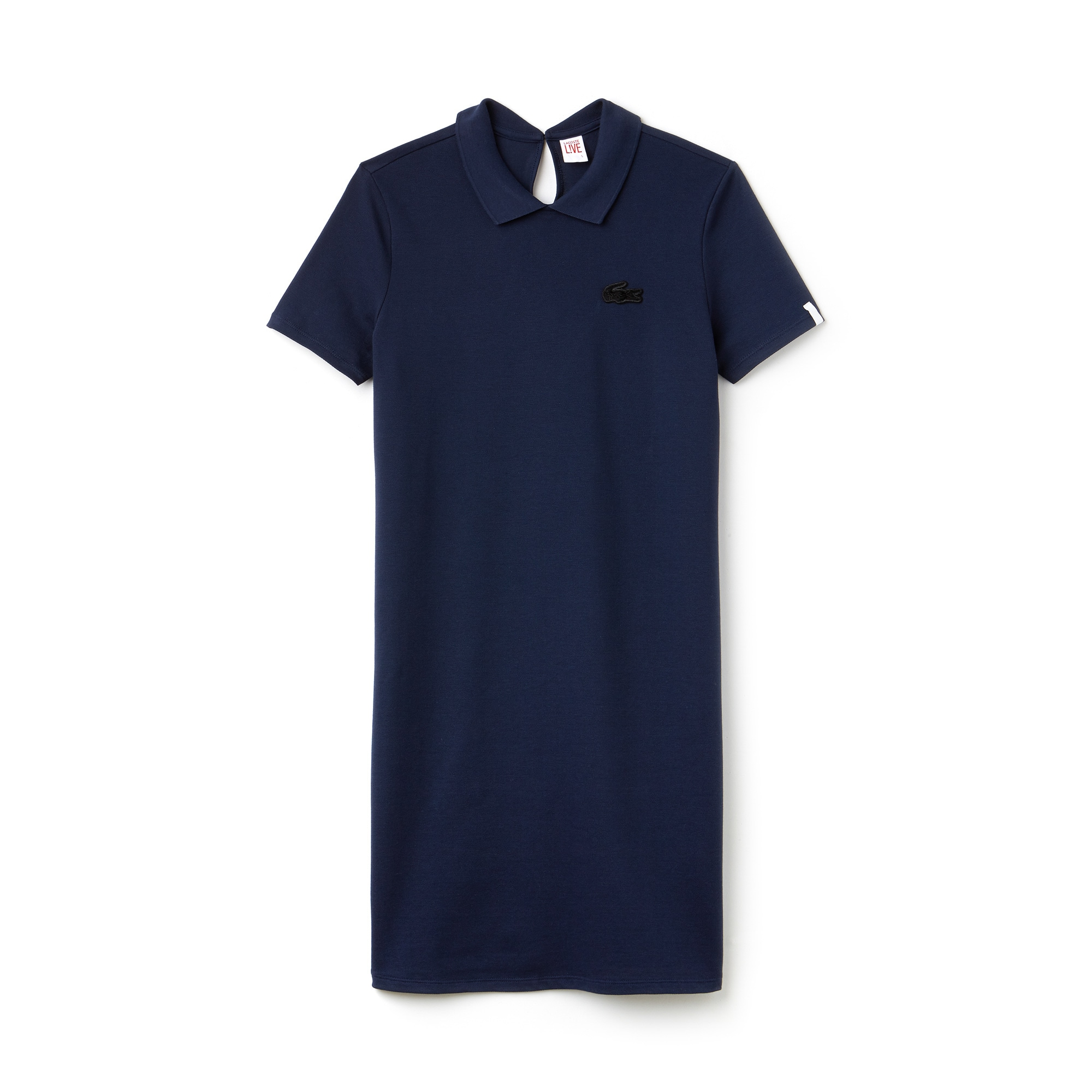 Women's Lacoste LIVE Back Opening Stretch Mini Piqué Polo Dress