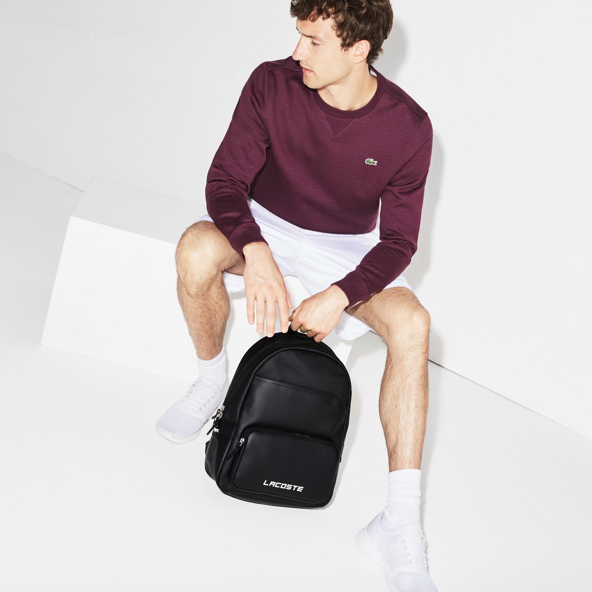 Men's Ultimum Lacoste Lettering Petit Piqué Backpack