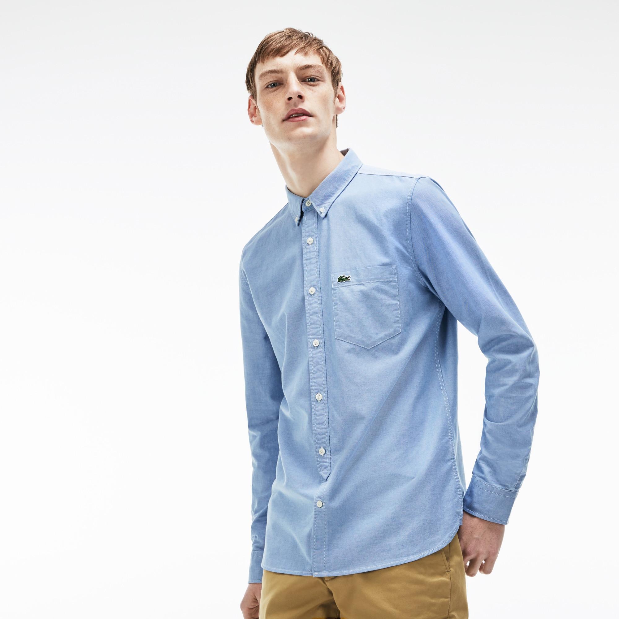 Men's Lacoste LIVE Slim Fit Oxford Cotton Shirt