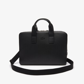 Men's Chantaco Matte Piqué Leather Computer Bag