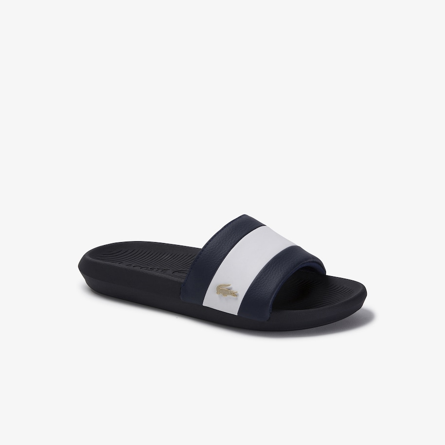 Women's Croco Metallic PU Slides